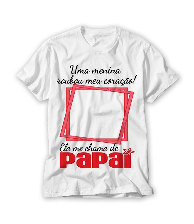 Camiseta Personalizada Dia Dos Pais Elo7