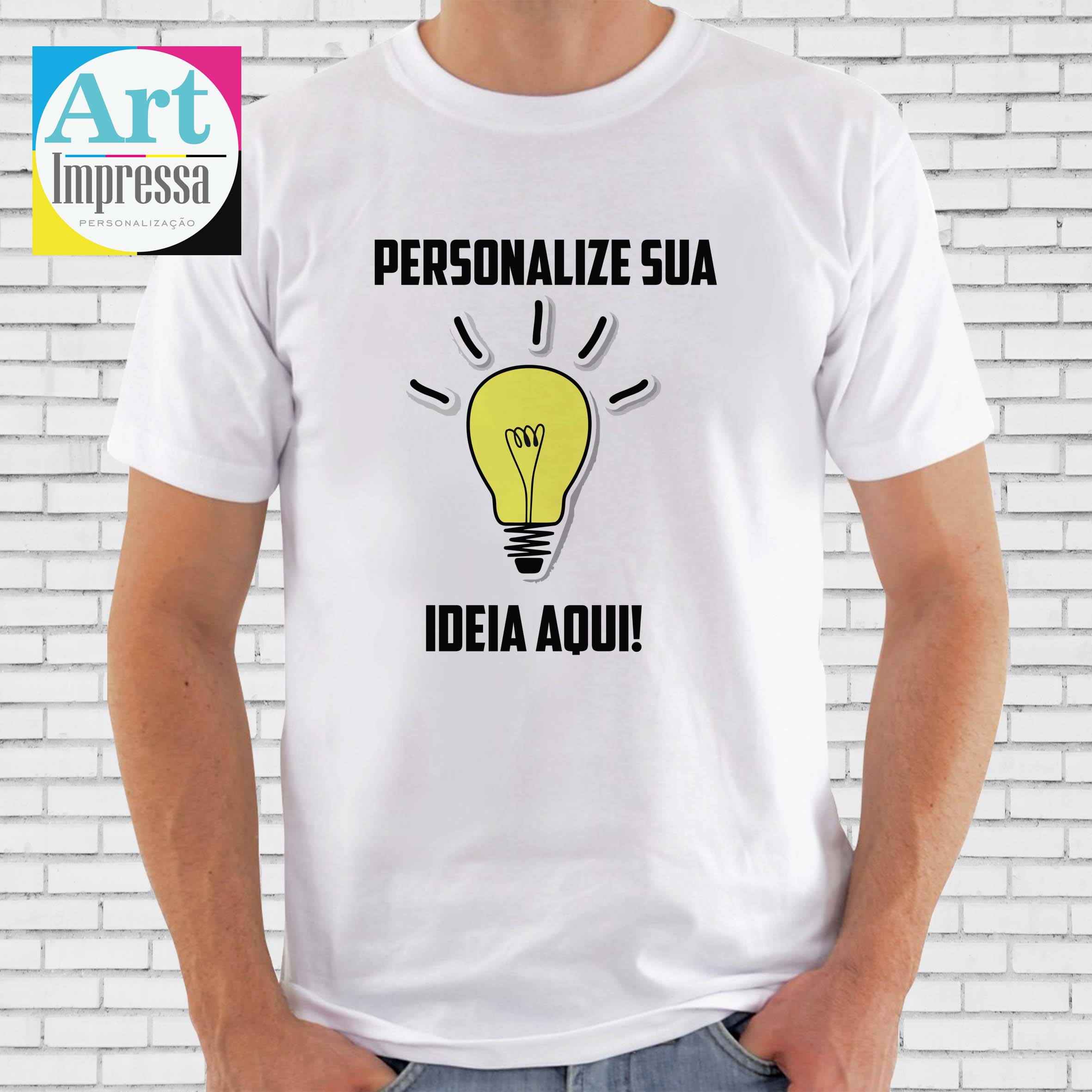 Camisetas Personalizadas Sua Arte Aqui Pai  ea45ae0e90138