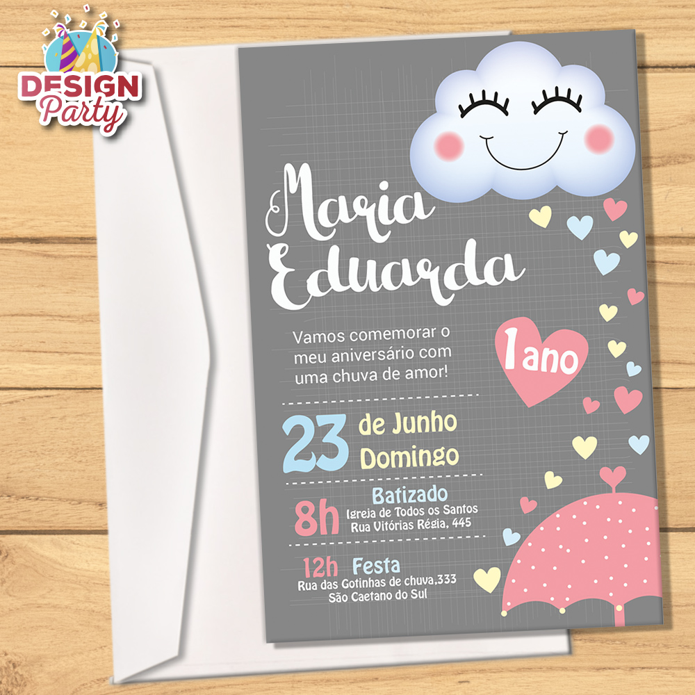 Convite Chuva De Amor Envelope No Elo7 Design Party 9fe1c7