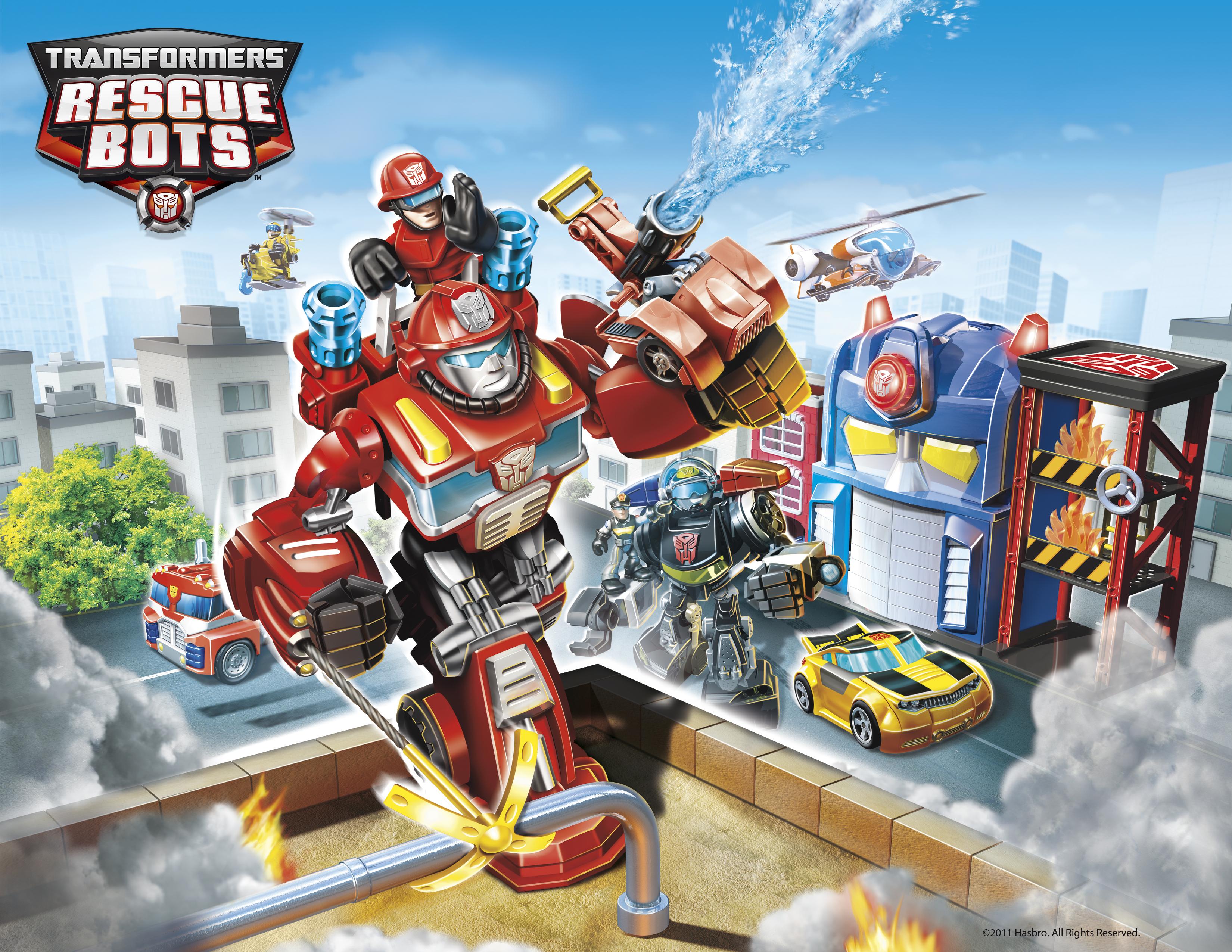 Painel Festa 1x070m Rescue Bots