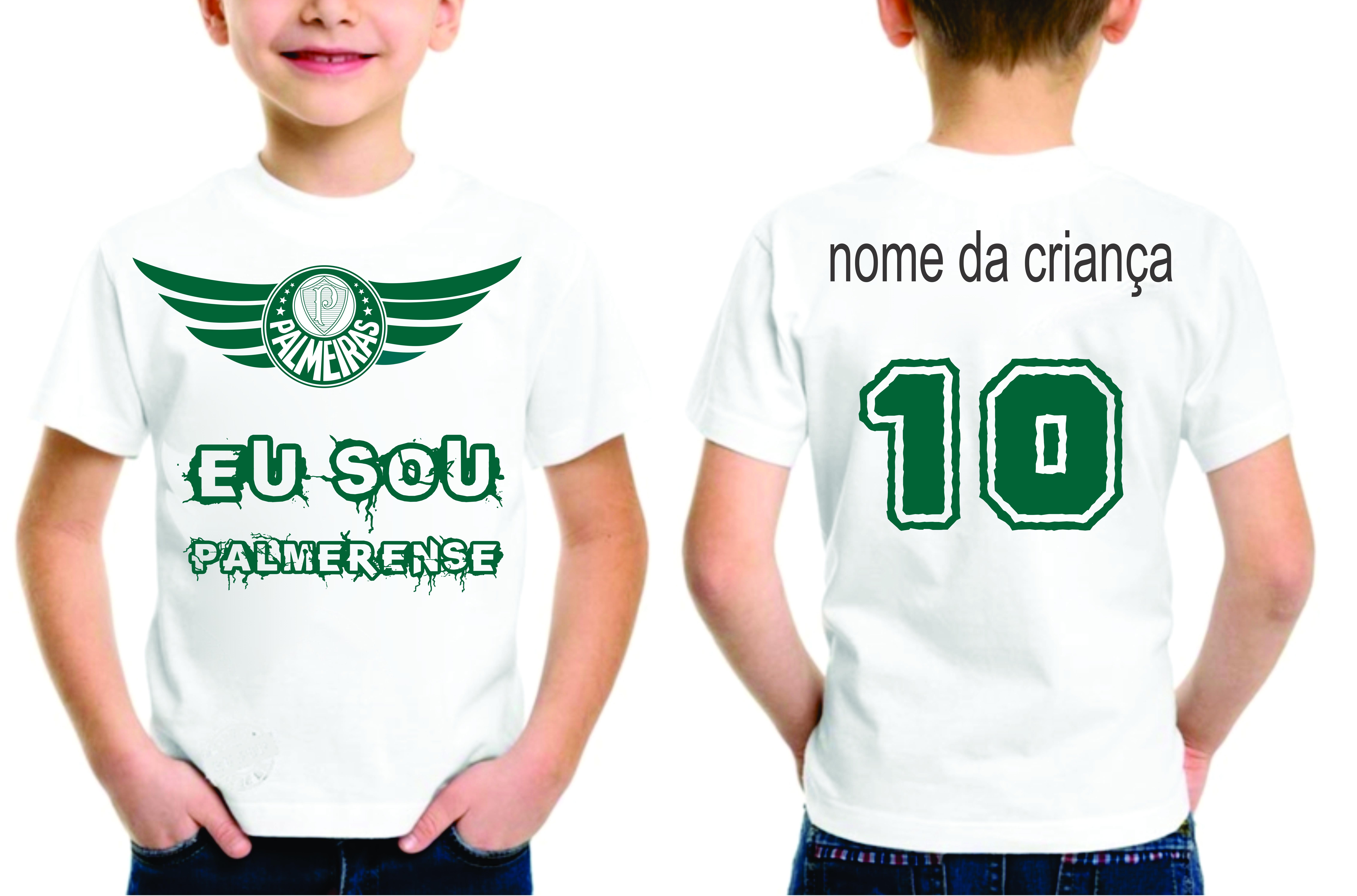 68a0f3e0f8d29 Camiseta Infantil Palmeira S Personalizada com Nome | Elo7