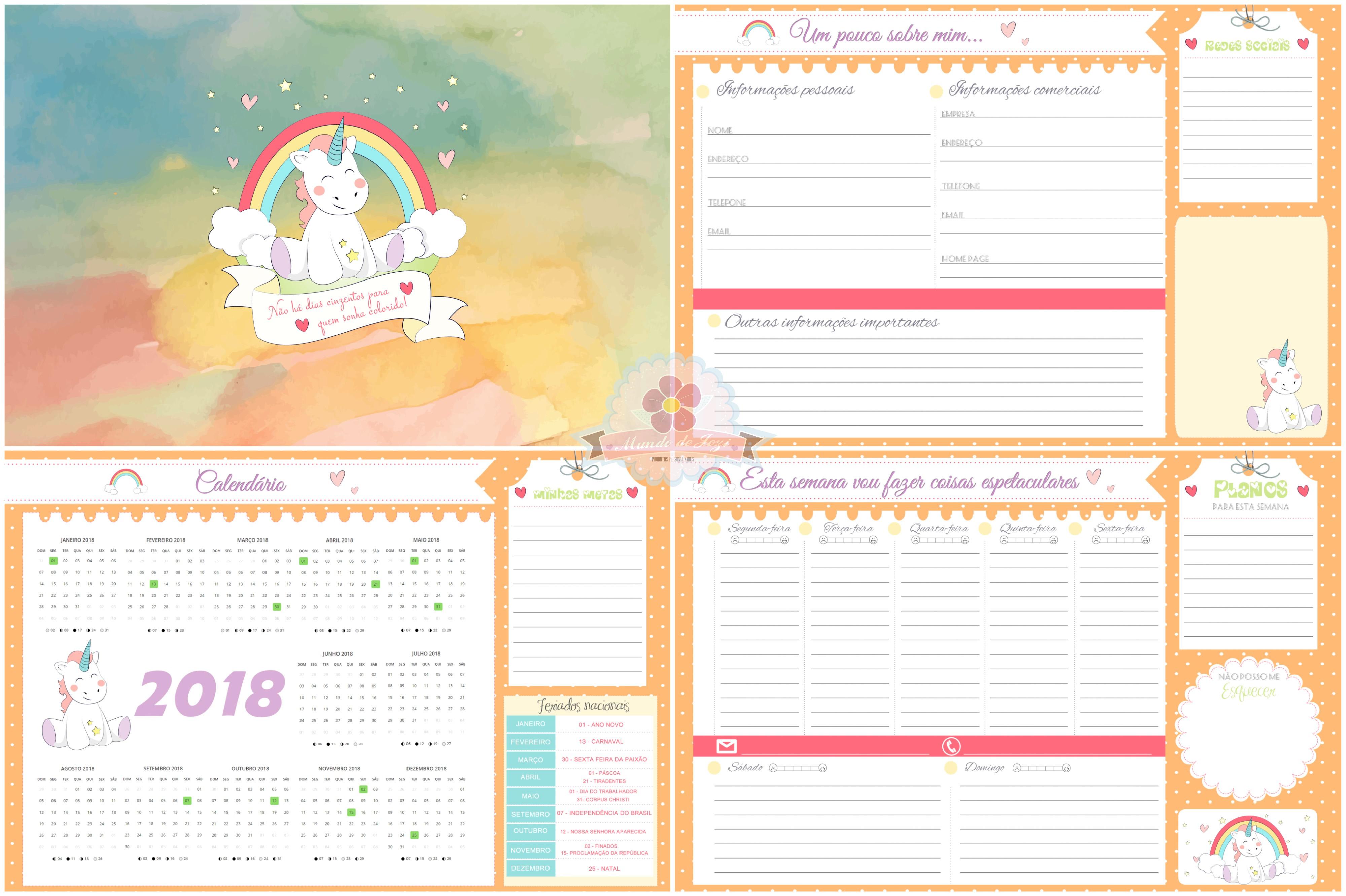 Resultado de imagem para planner semanal 2018