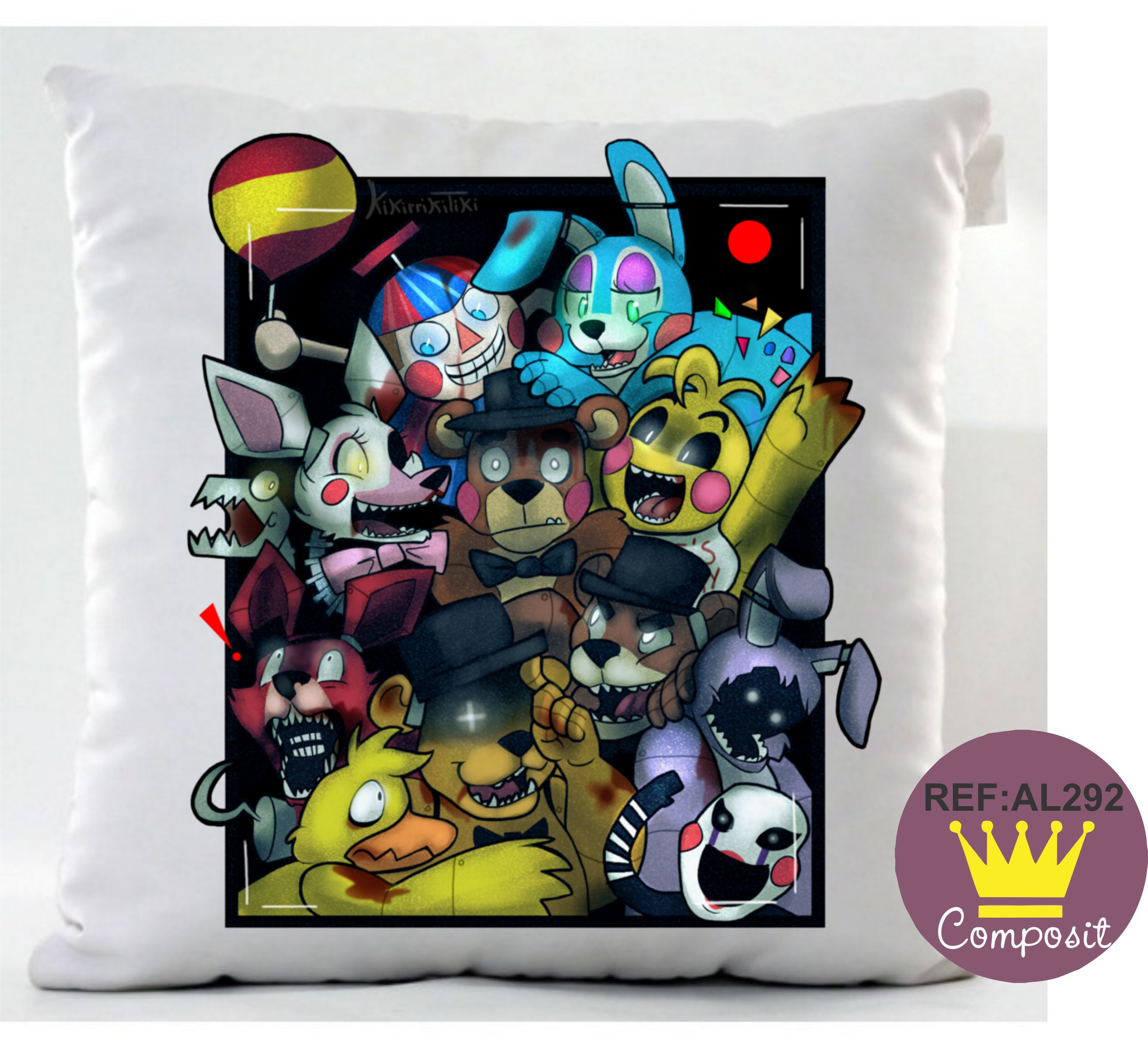 almofada 34x27cm five nights at freddy s elo7