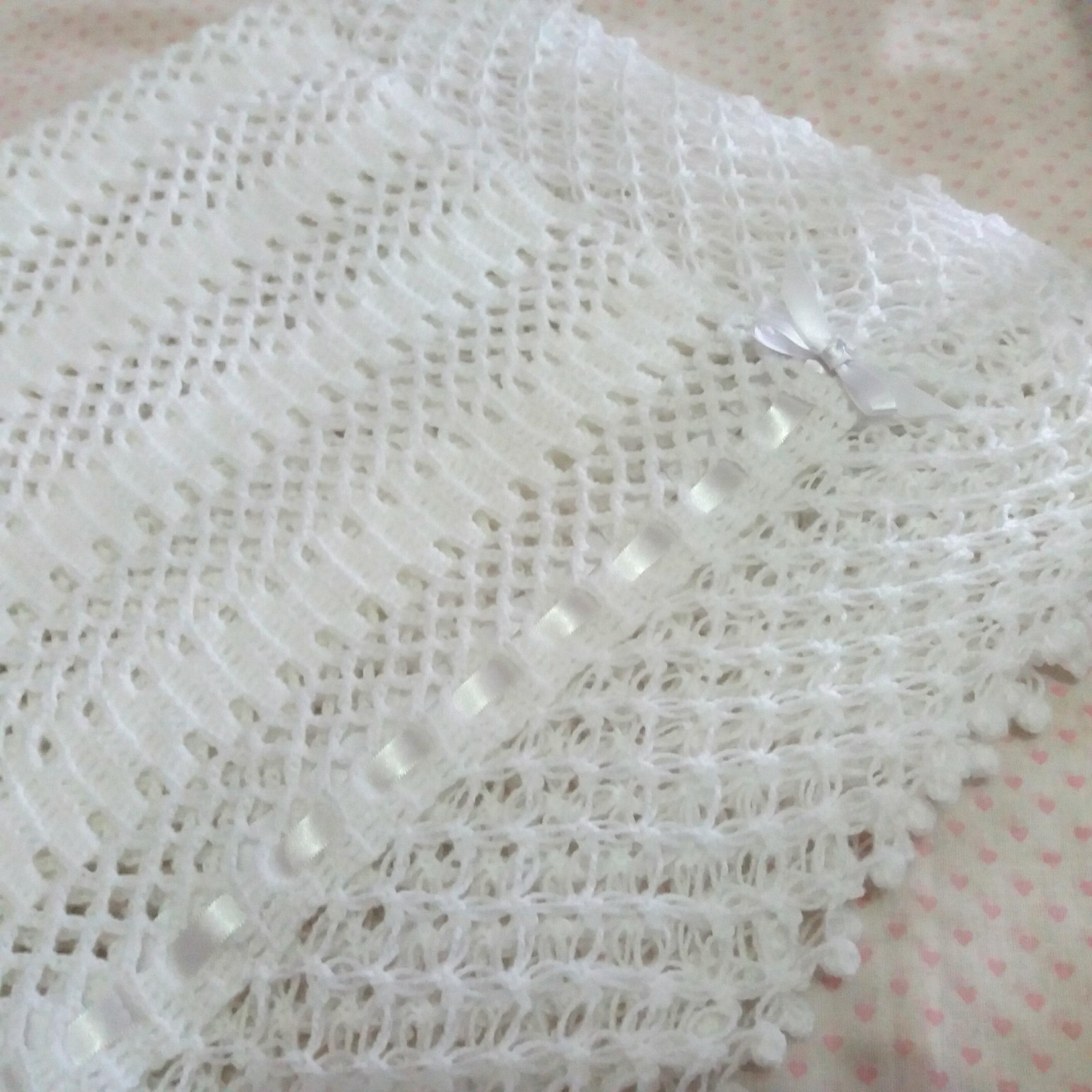 Manta para Bebe em Croche | Elo7