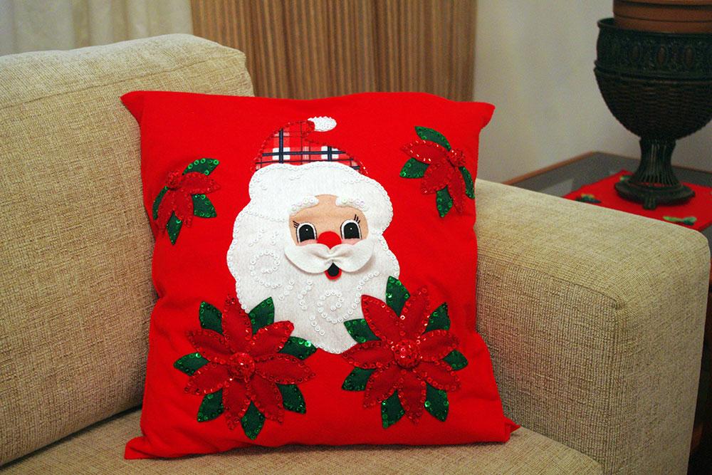 632ef54d4bac80 Capa para Almofada Papai Noel | Elo7