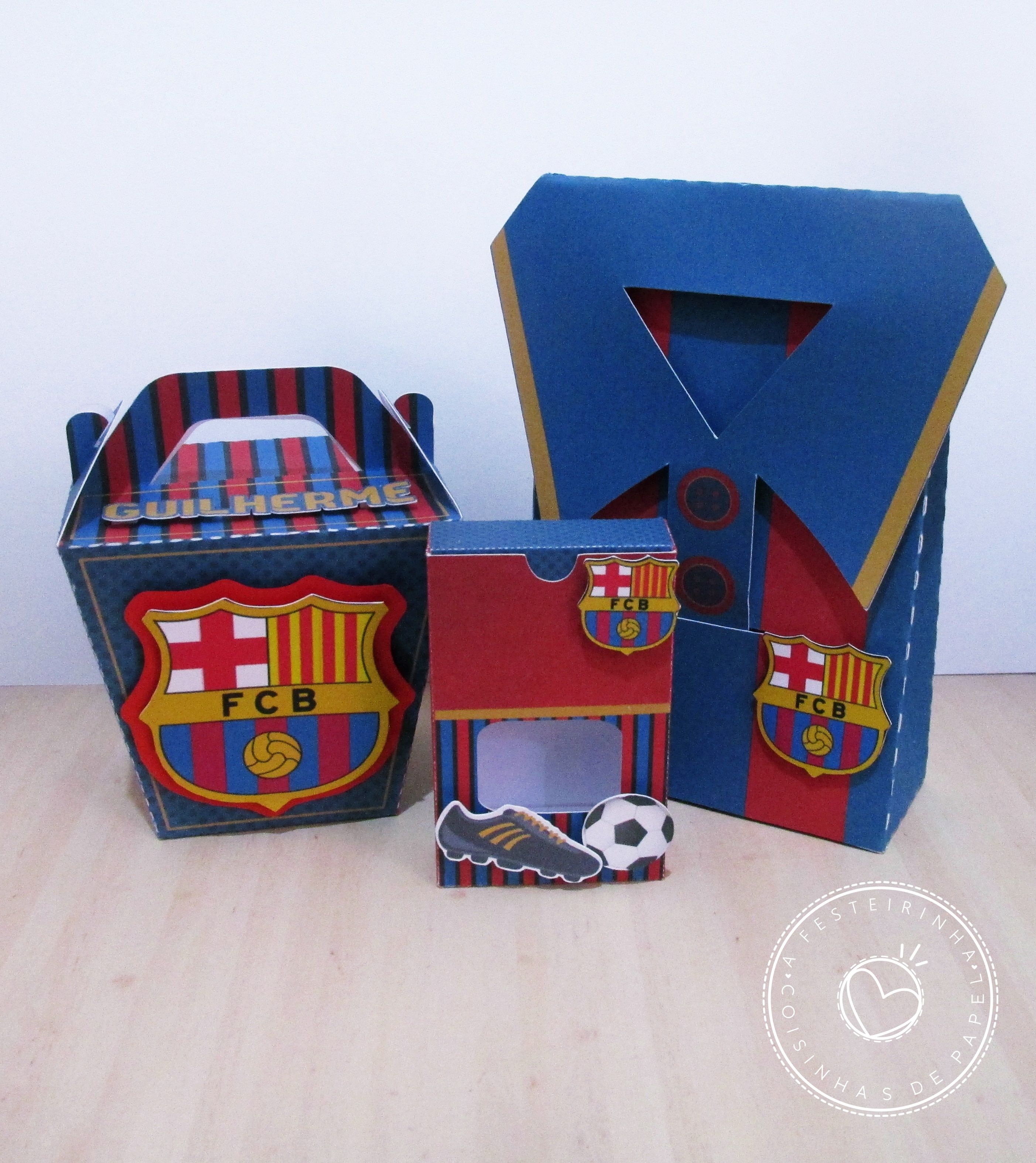 Kit Festa Futebol Barcelona  dda80cca0bb9e