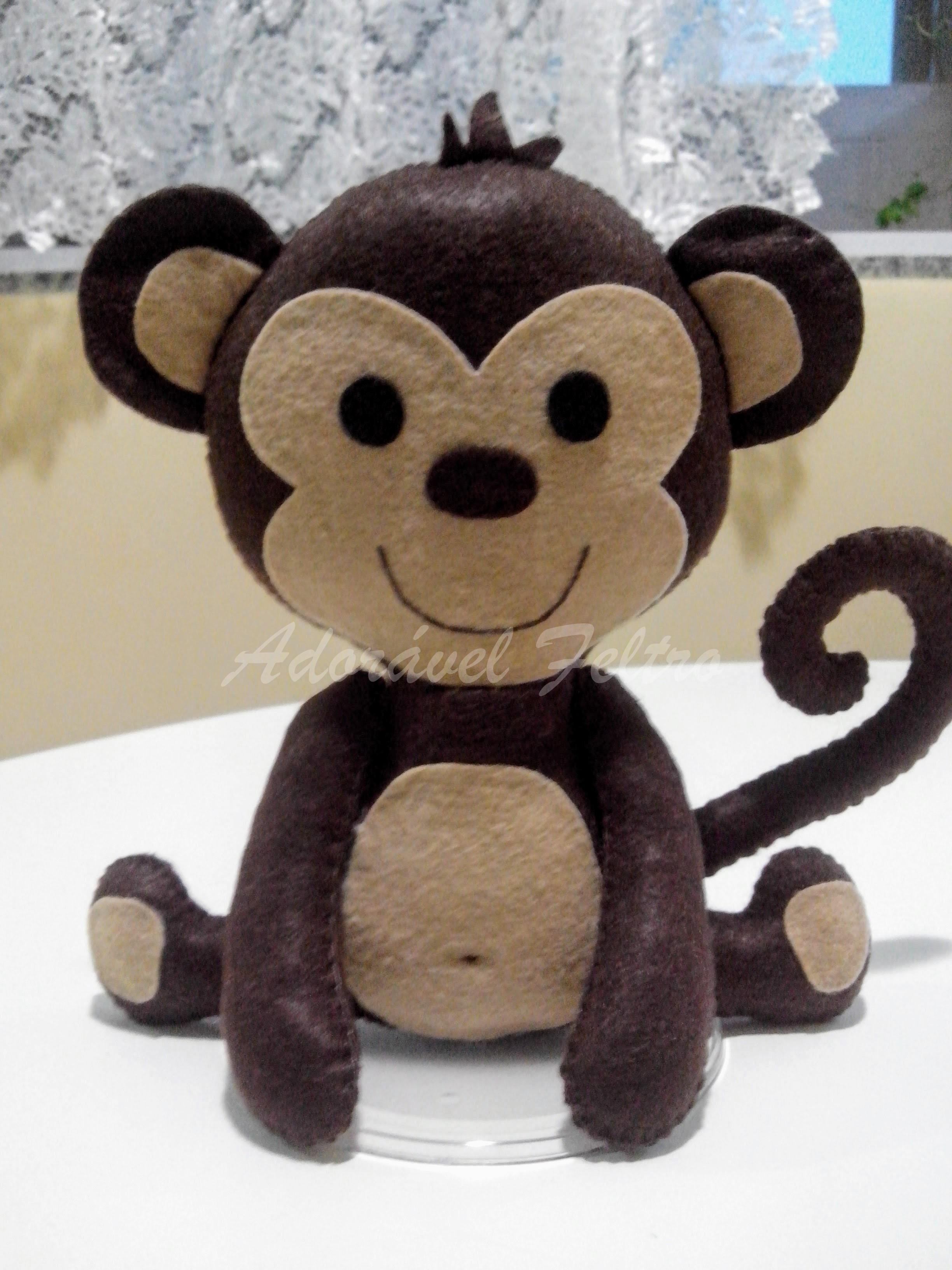 Macaco em Feltro - 25cm no Elo7 | Adorável Feltro - Lovely Felt (A1604F)