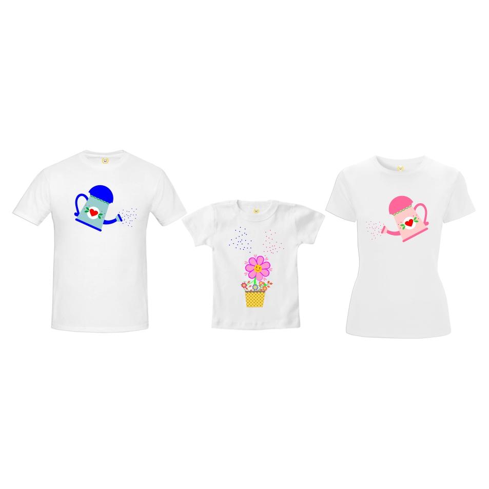 3bf352a5628122 Camiseta Pai Mãe e Filha   Elo7