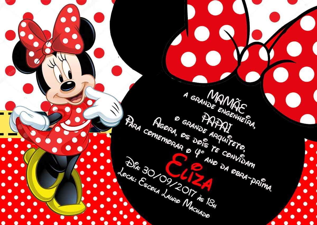 Convite Minnie Vermelha 10x15 No Elo7 Personalize A1cb69