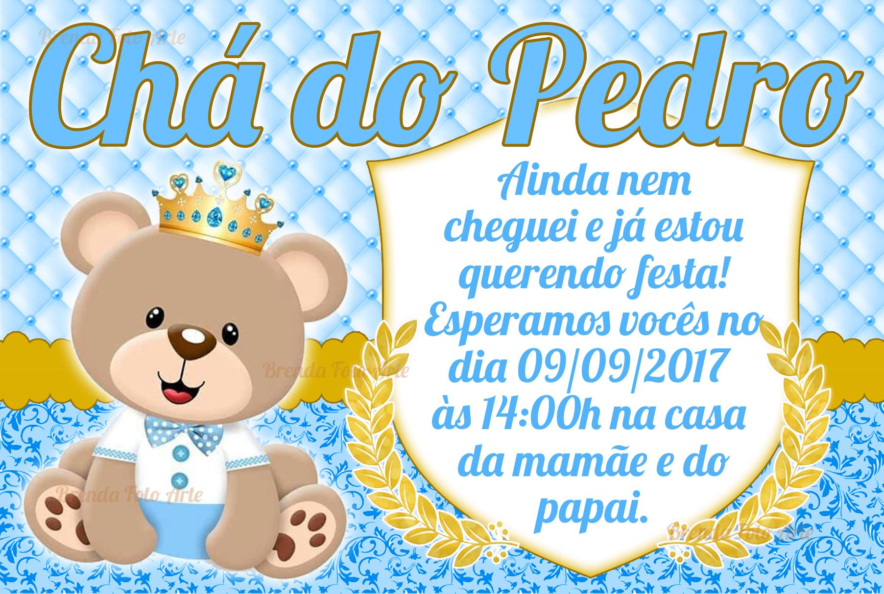 Convite Ursinho Principe Elo7