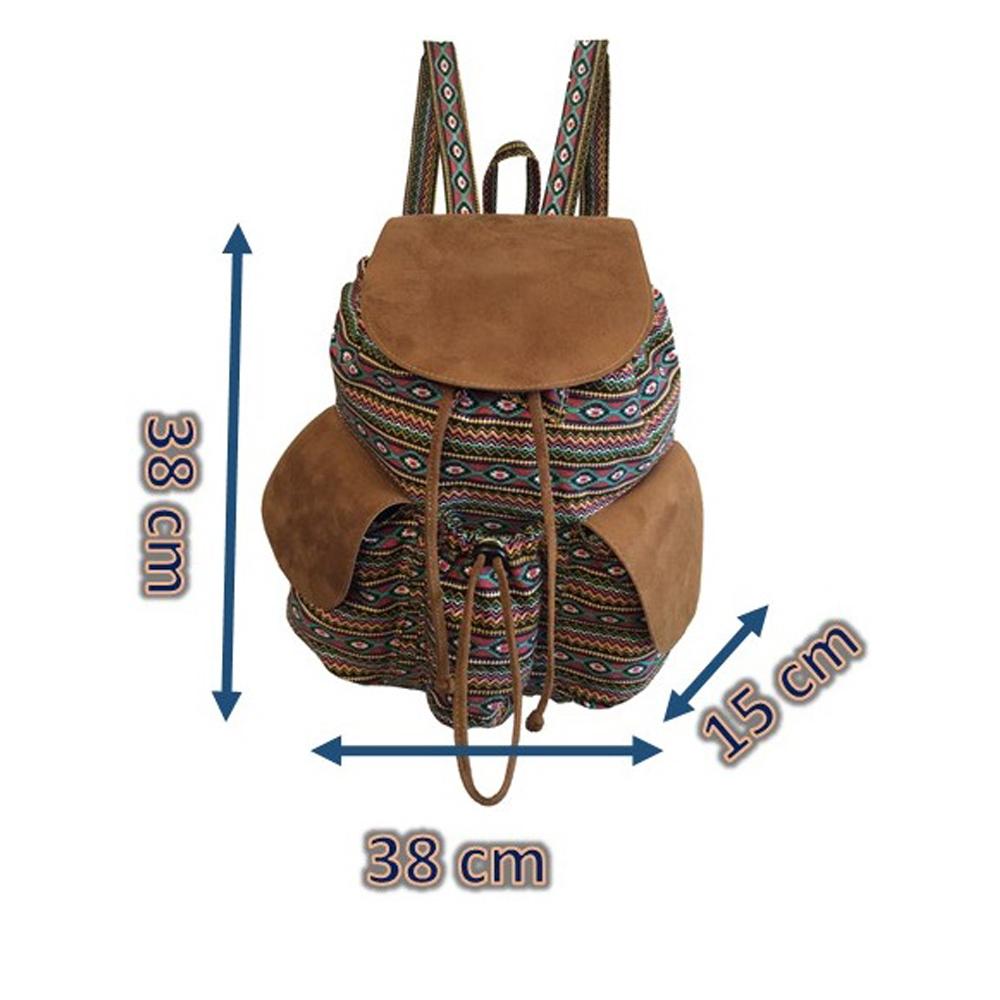a941ad919 Bolsa mochila feminina étnica estampada no Elo7 | Meu tio que fez S2  (A20645)