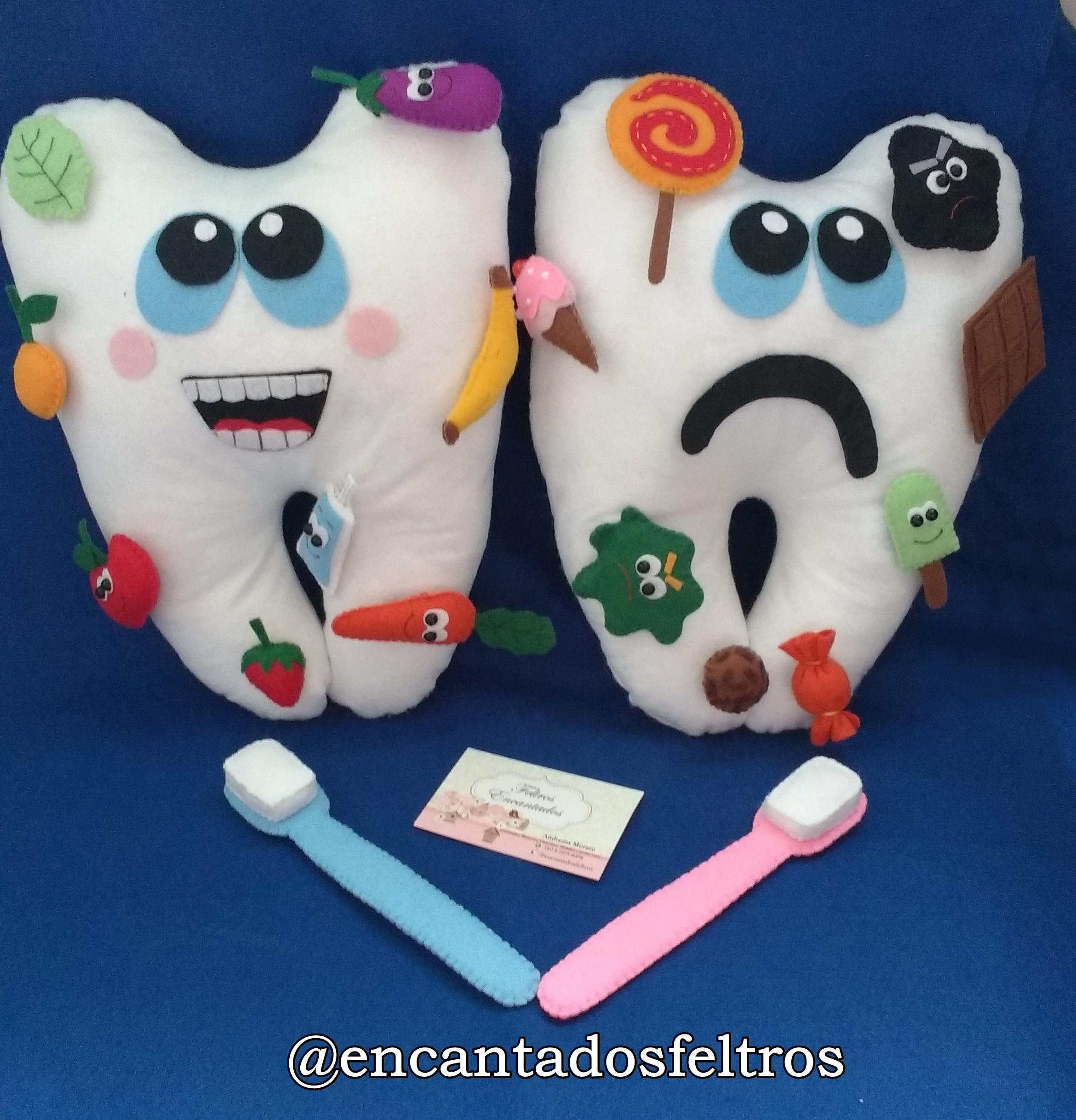 Dente Feliz E Dente Triste No Elo7 Feltros Encantados A20c4a