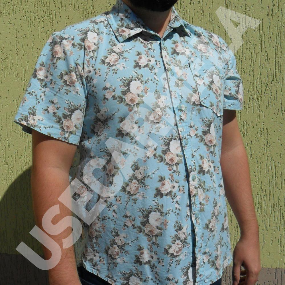 57d6b52730 Camisa Masculina Florida Azul Claro no Elo7