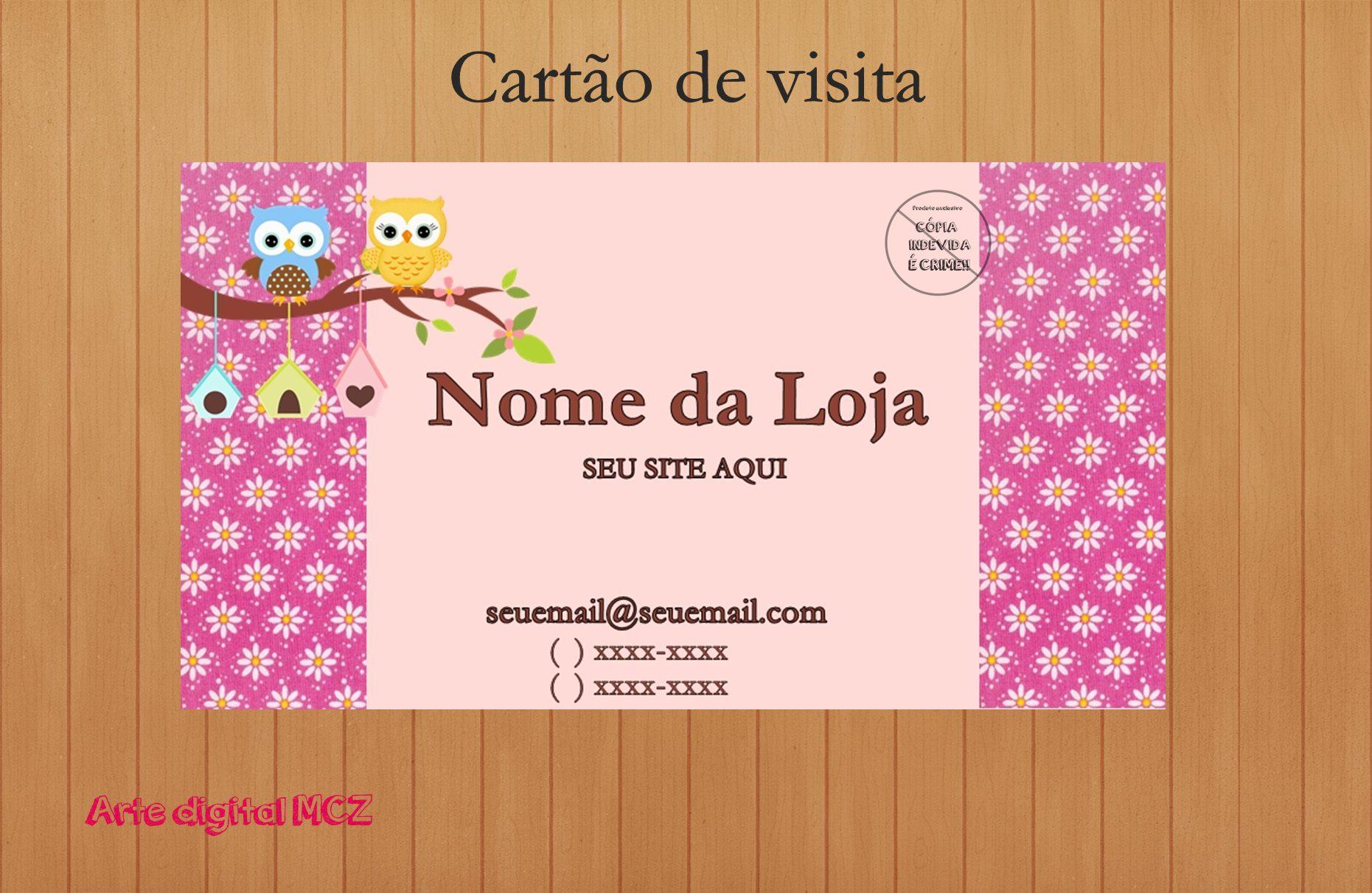 Top Cartao de Visita Corujinha | Elo7 CQ31