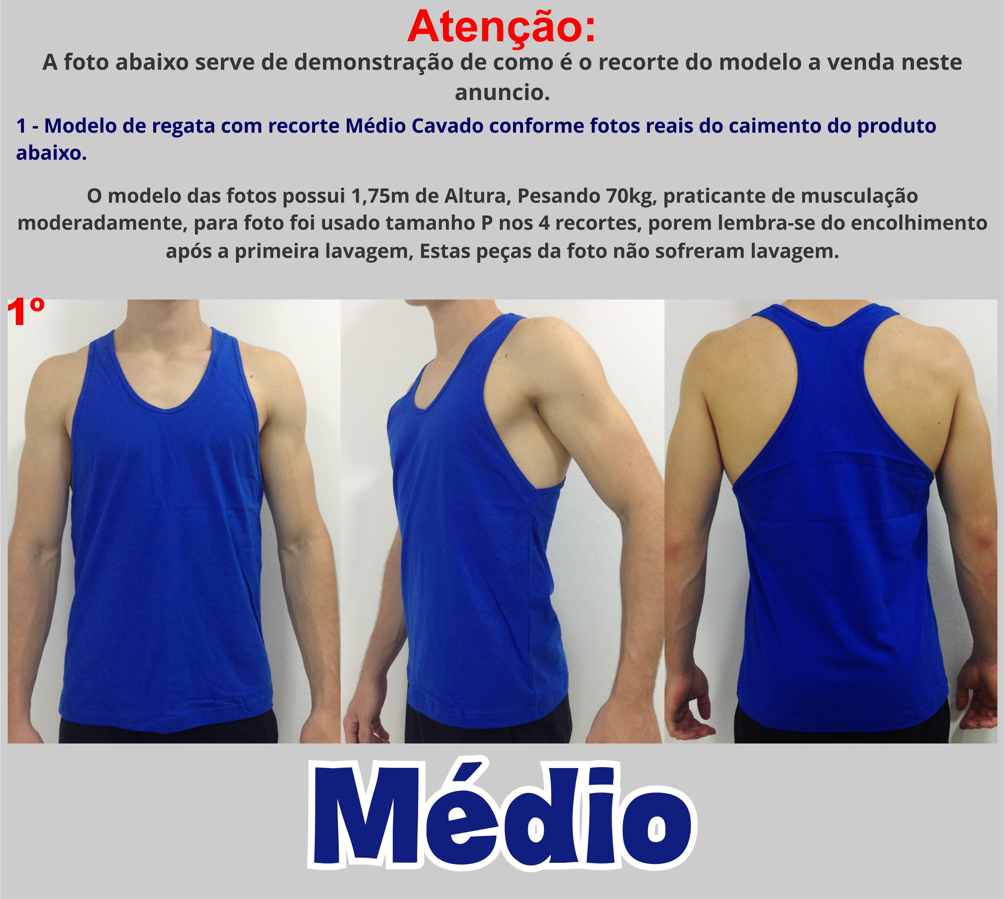 Regata Academia Algodão Musculação Cavad no Elo7  1480f706aed