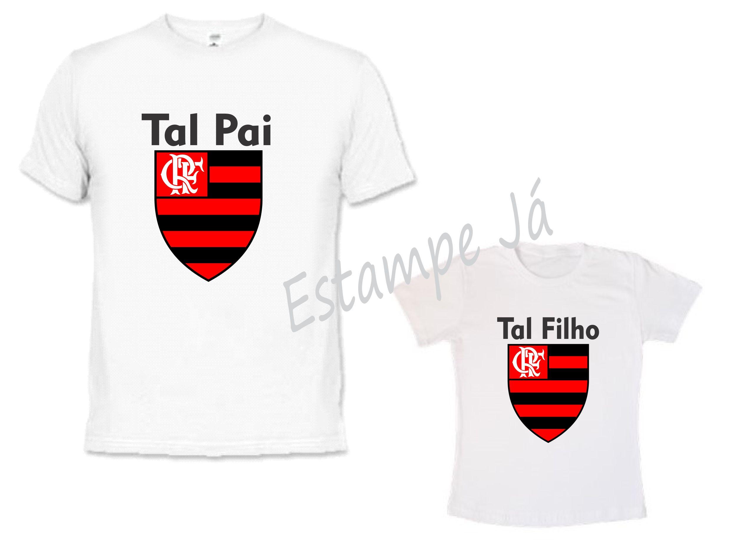 Camiseta para os Pais Torcedor do Flamengo  01967f3acd041