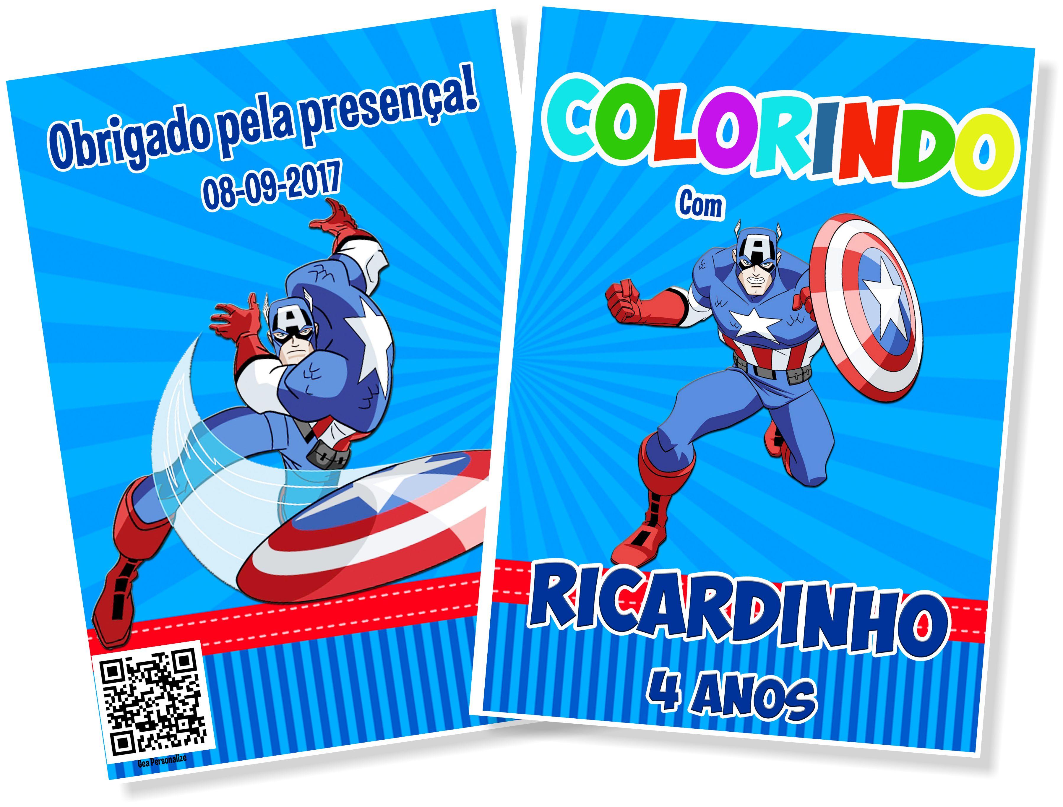 Livro De Colorir 15x21 Capitao America No Elo7 G A Personalize