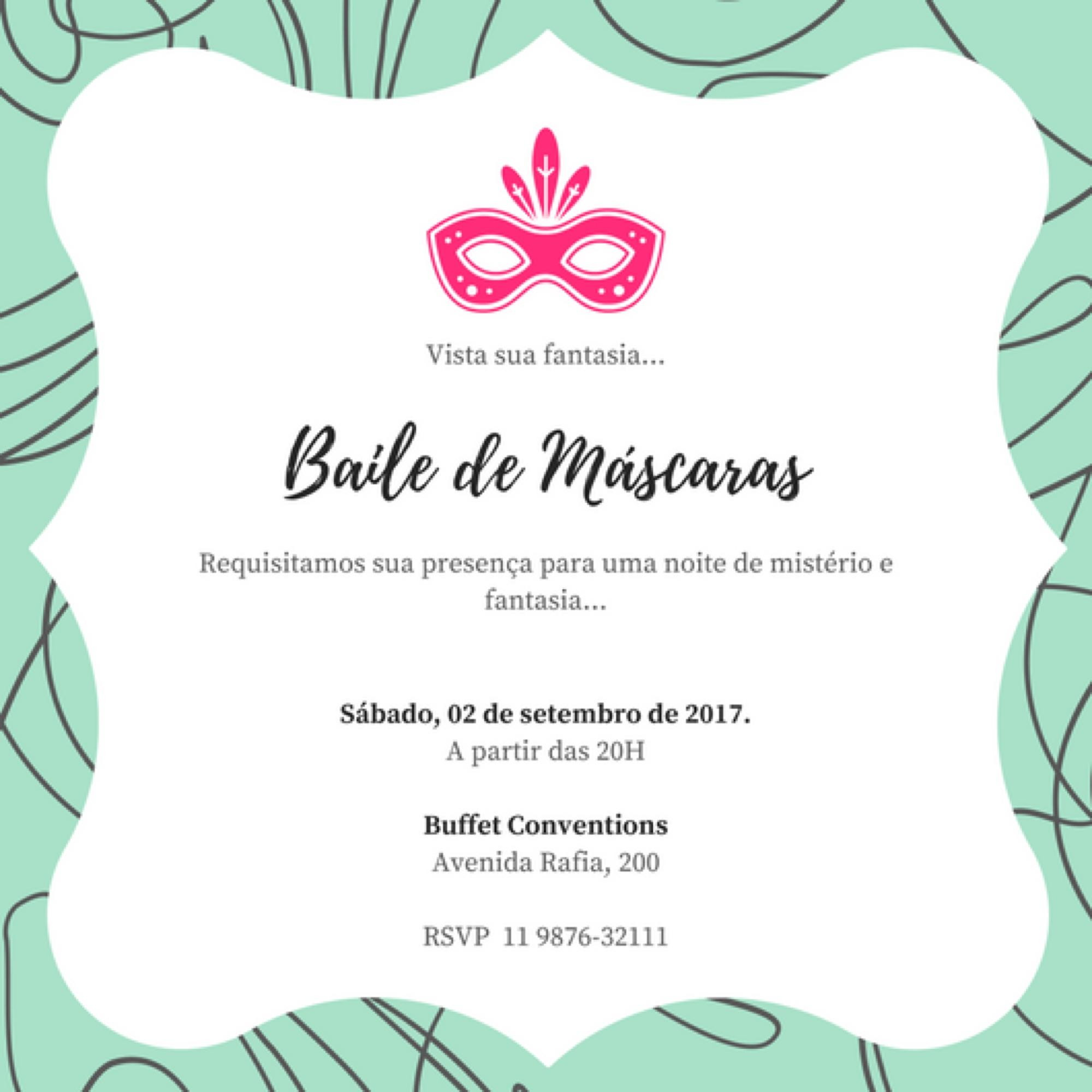 Convite Caixa Convite De Festa A Fantasia Elo7