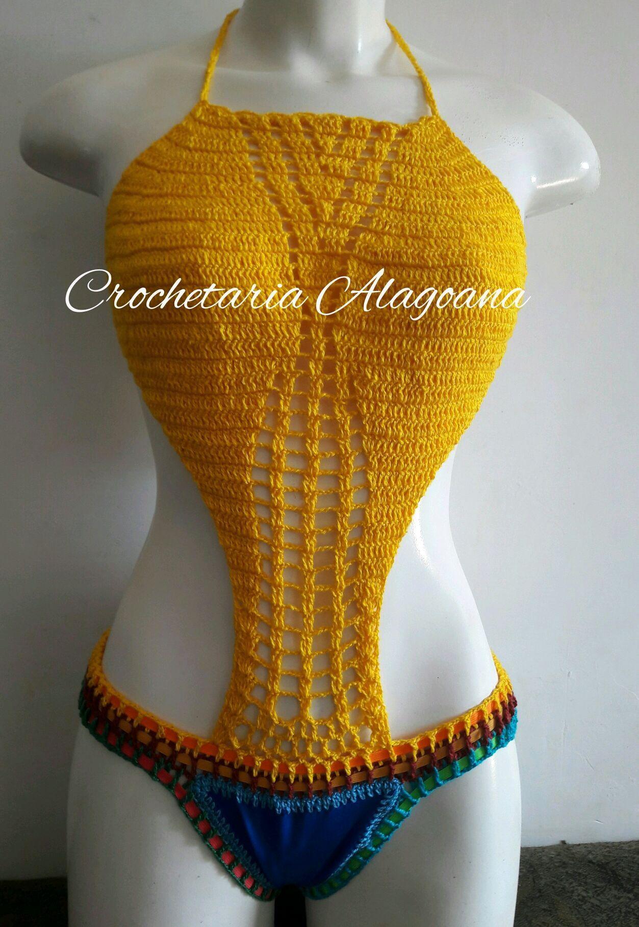 c3dd9e450 Body maio em croche atacado no Elo7 | Crochetaria Alagoana (858B4F)