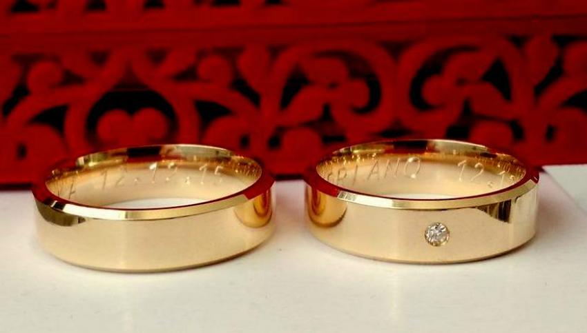 ef3fb5c451e Alianças Moedas Antiga cor ouro casamento no Elo7