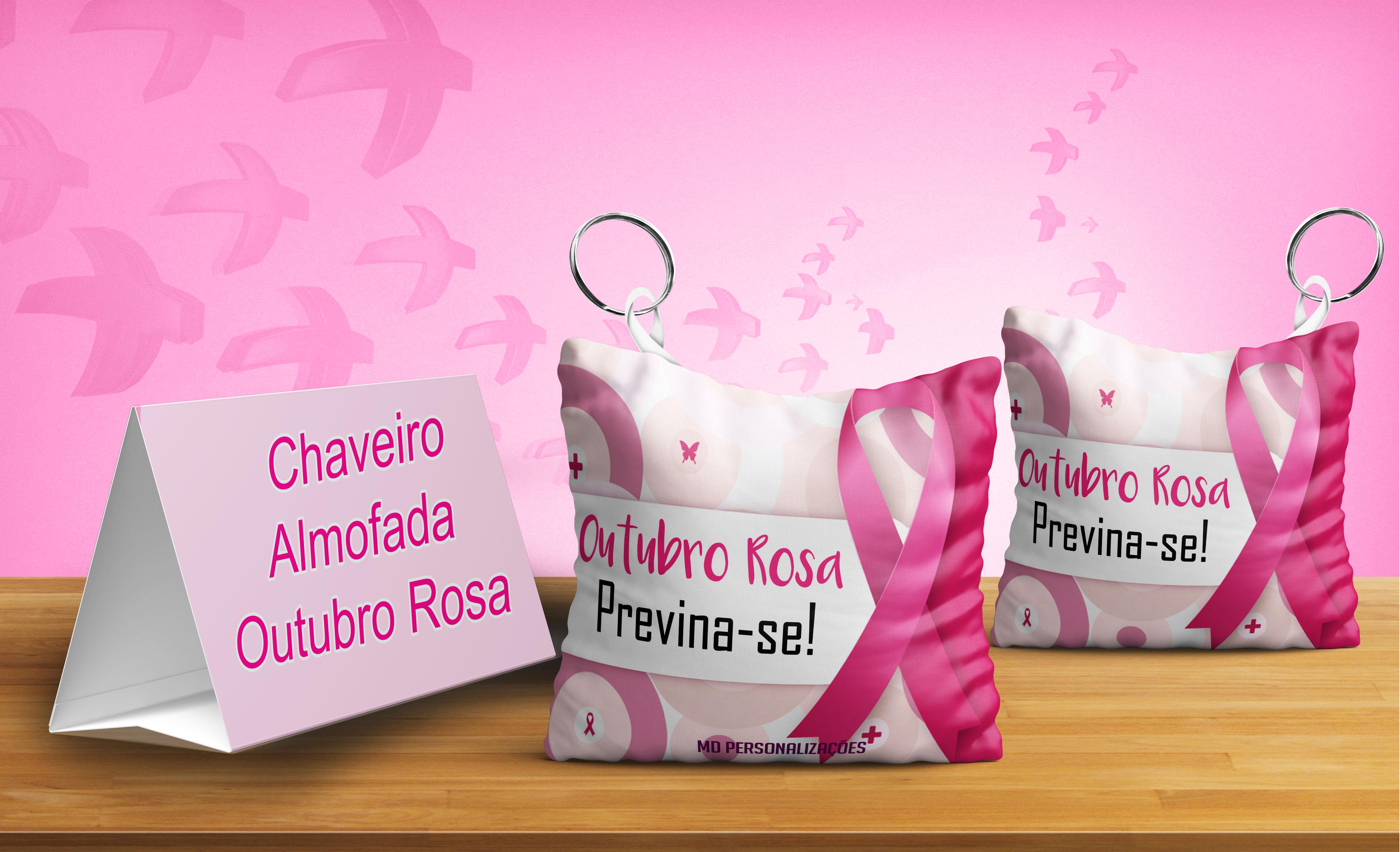 Fabuloso Chaveiro Outubro Rosa   Elo7 MX57