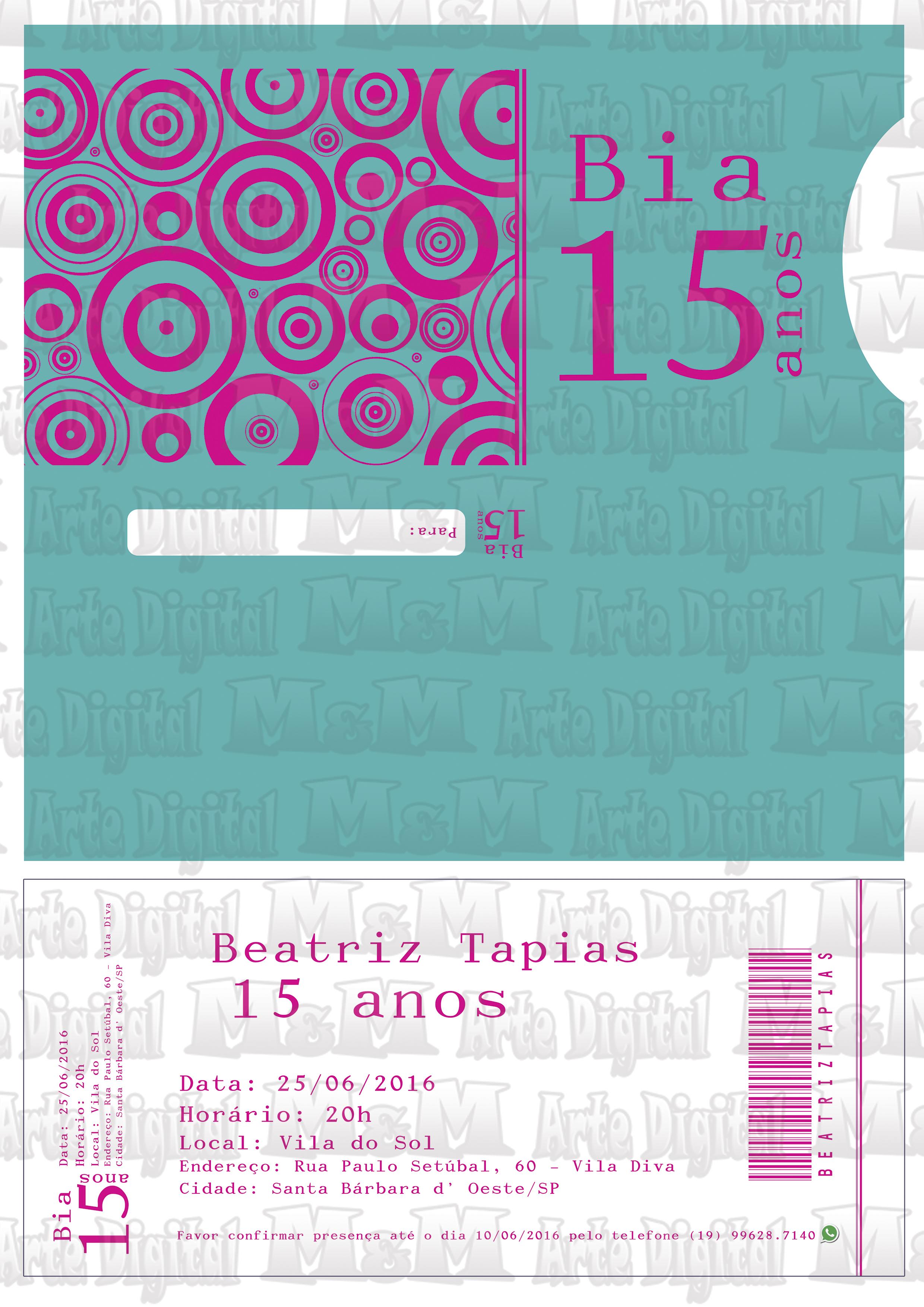 Convite Ingresso Vip  a80b607a23c
