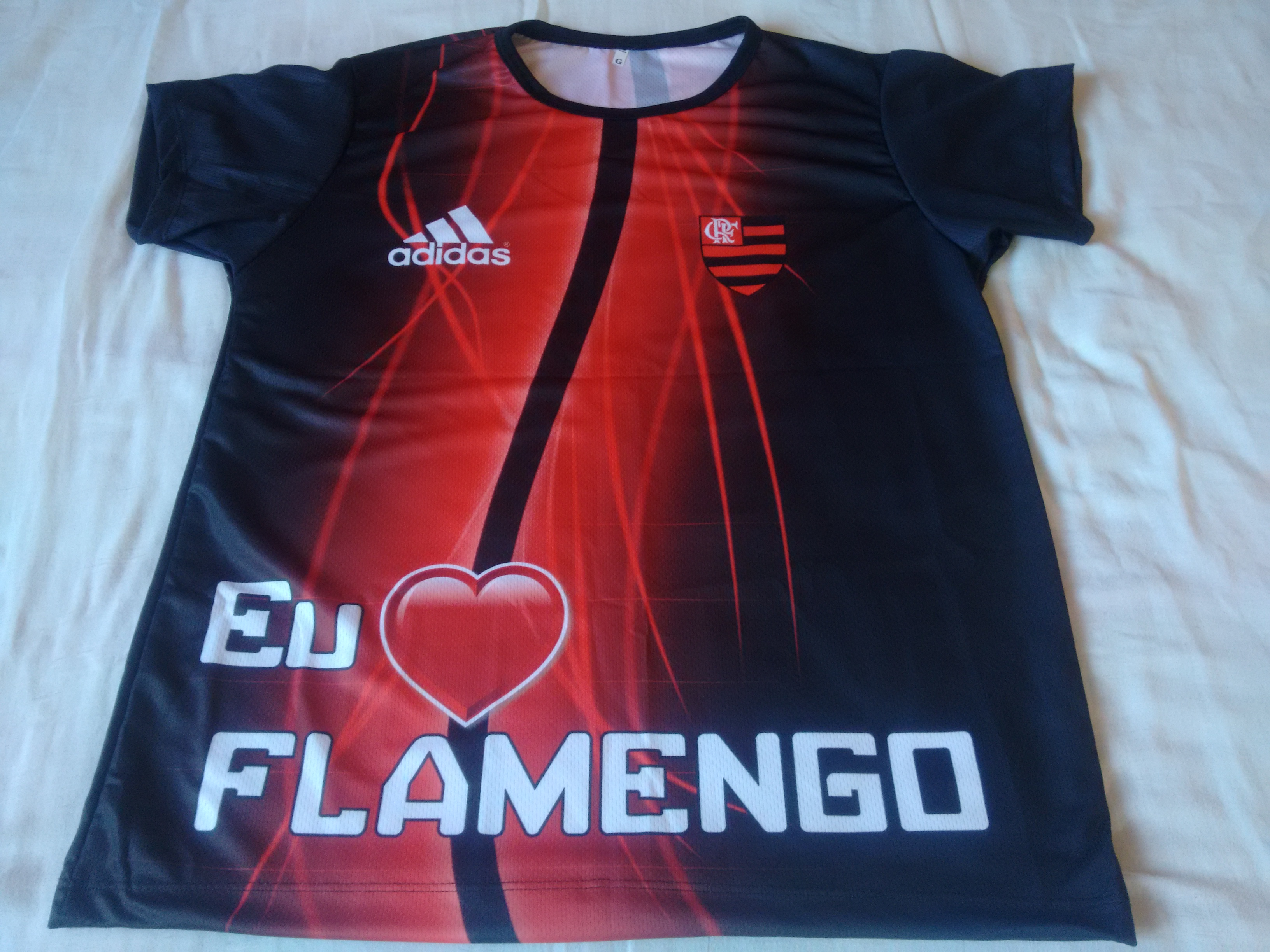 068d7ce778baf Camiseta Flamengo Hulk no Elo7