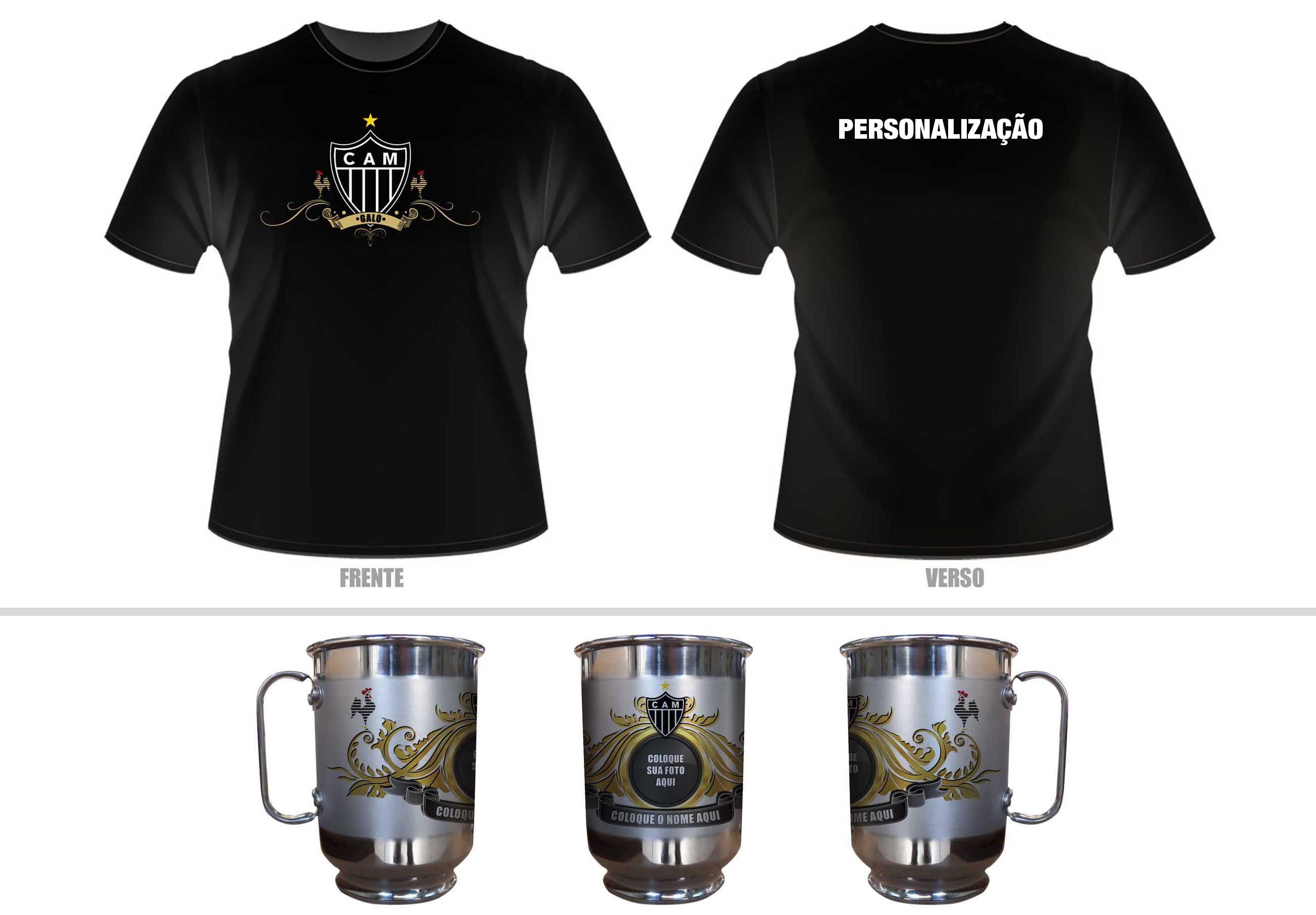 2048a8e457 Kit Camiseta Caneca Personalizada Timao