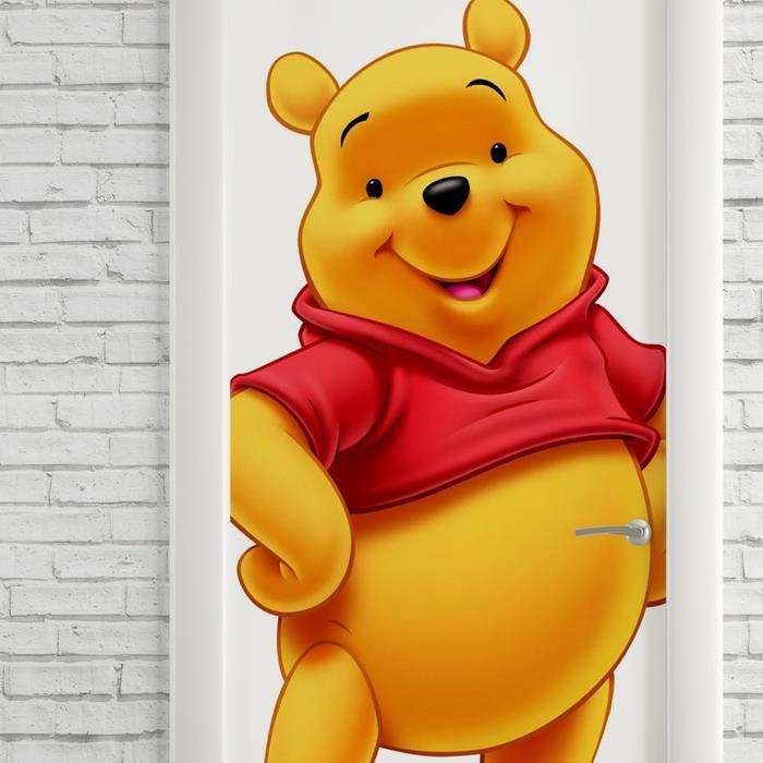 Adesivo Decorativo De Porta Desenho Ursinho Pooh Colorido No Elo7