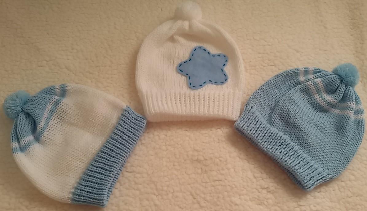 20ac4db40c585 Kit touquinhas para bebê - menino no Elo7