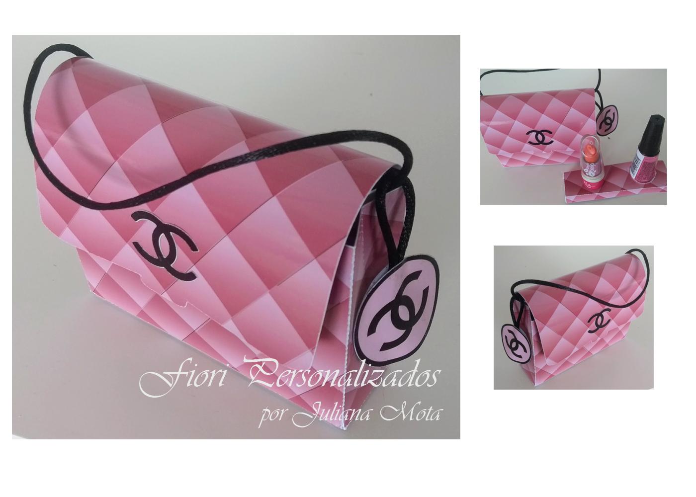 c7044afc6 lembrancinha Bolsa Coco Chanel rosa no Elo7   Fiori Personalizados por  Juliana Mota (A3F654)