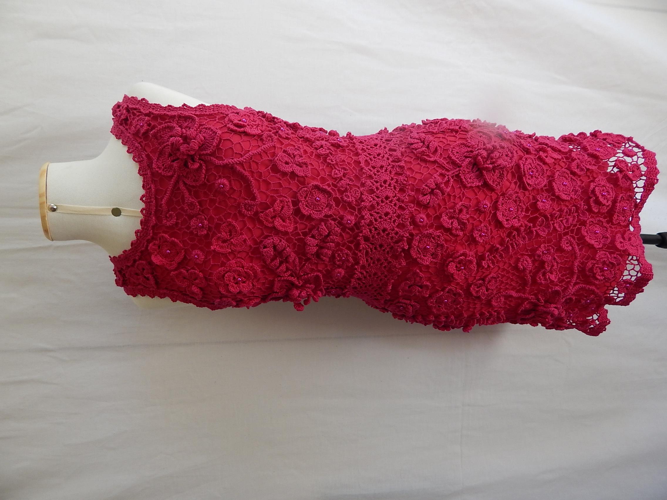 779a3f659e71 Lindo vestido de croche Irlandes no Elo7   Handmade By Morena (A42668)