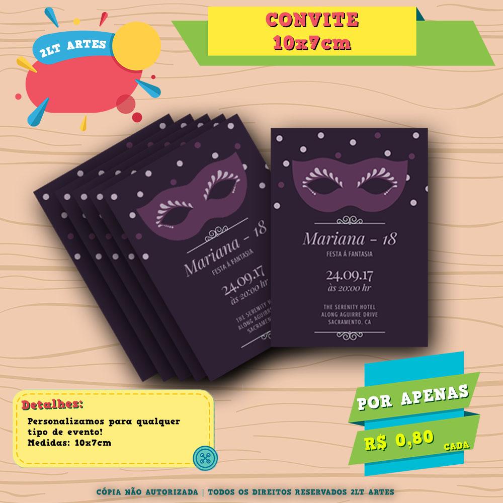 Convite 10x7 18 Anos Festa Fantasia No Elo7 Al Criativos
