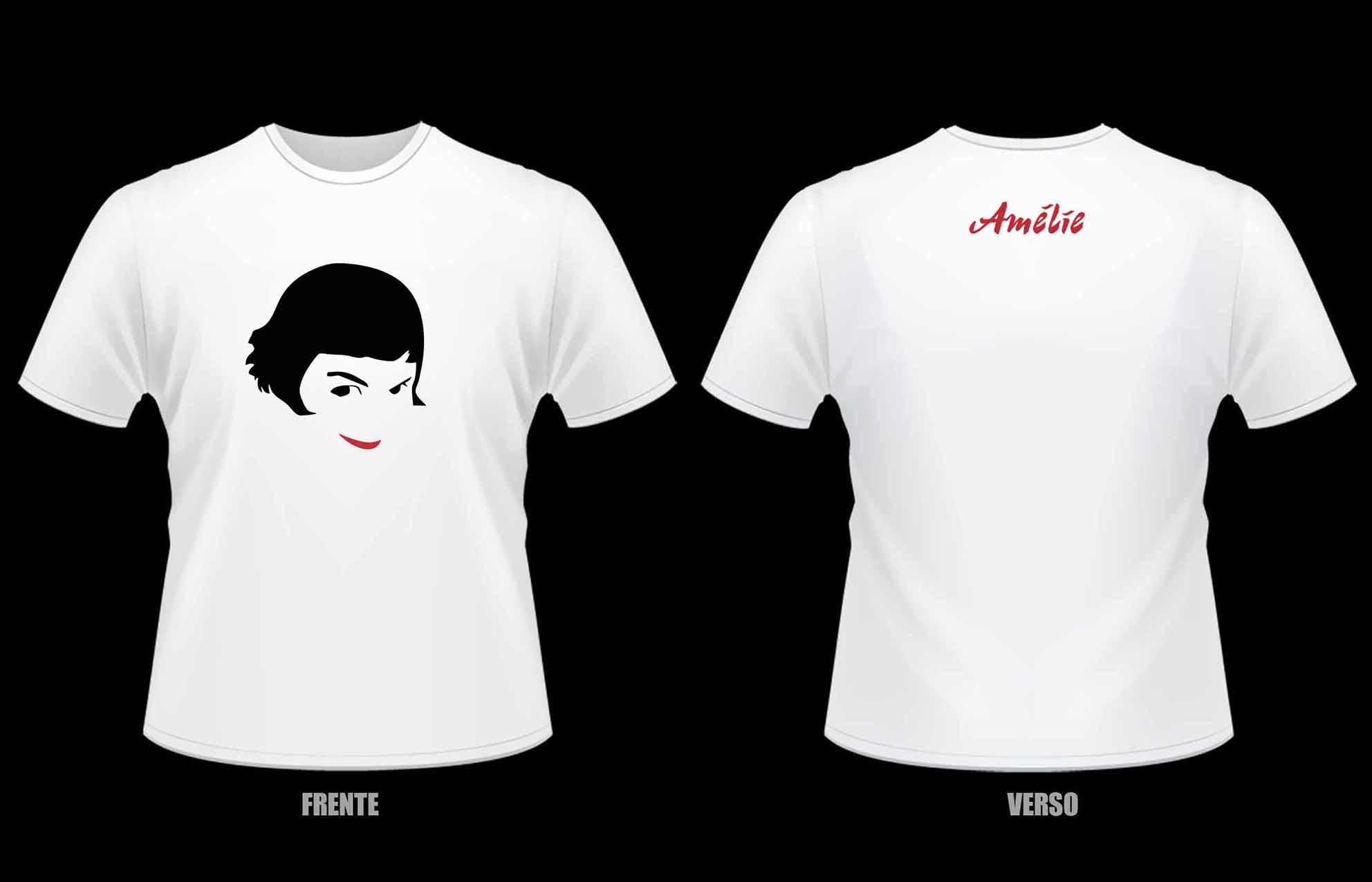 Camiseta Amelie Poulain No Elo7 Rockstickers Presentes A45520