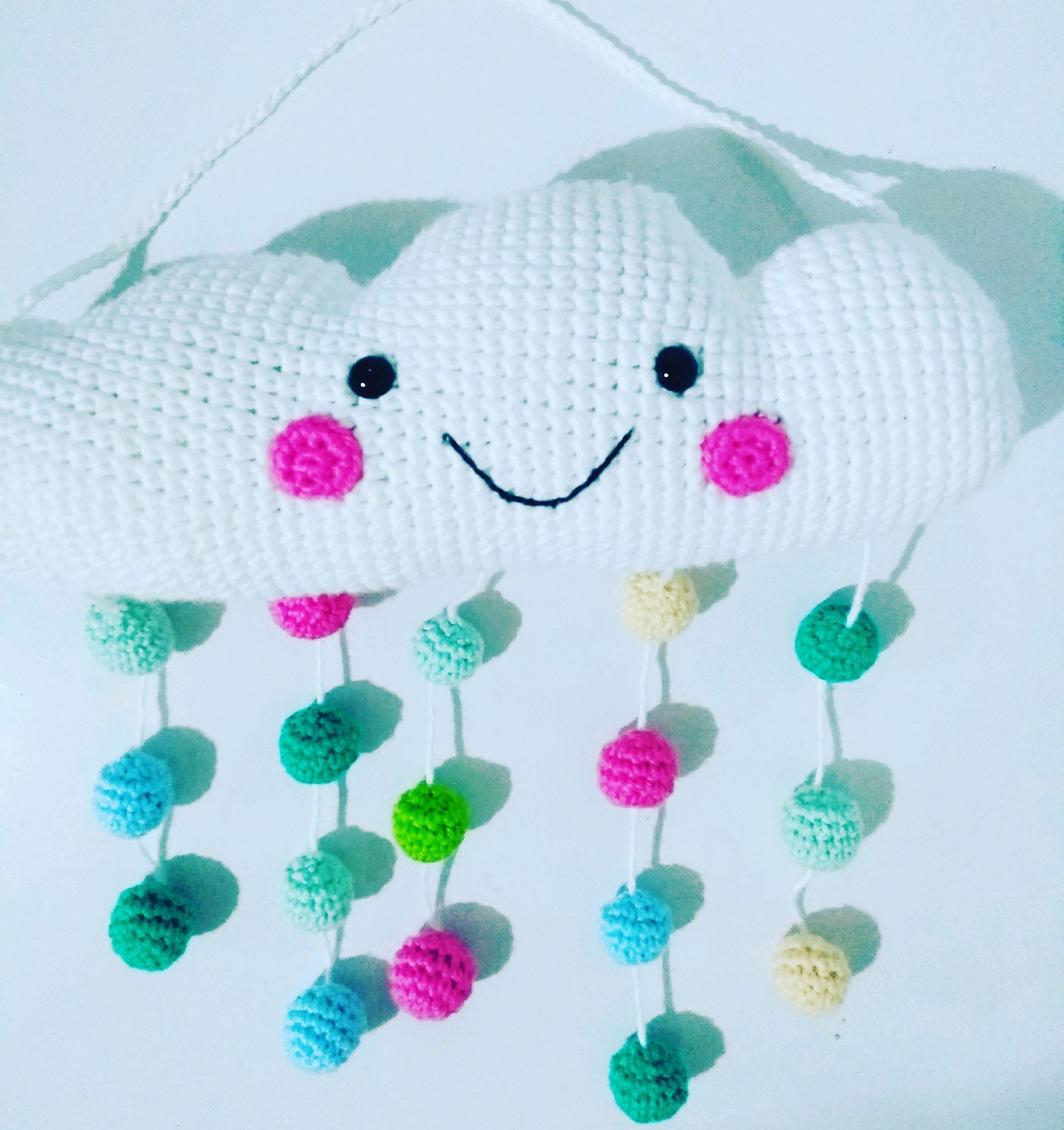 Nuvem amigurumi ☁️   Art da Tha   #amigurumi #mininuvem #croche ...   2600x2448