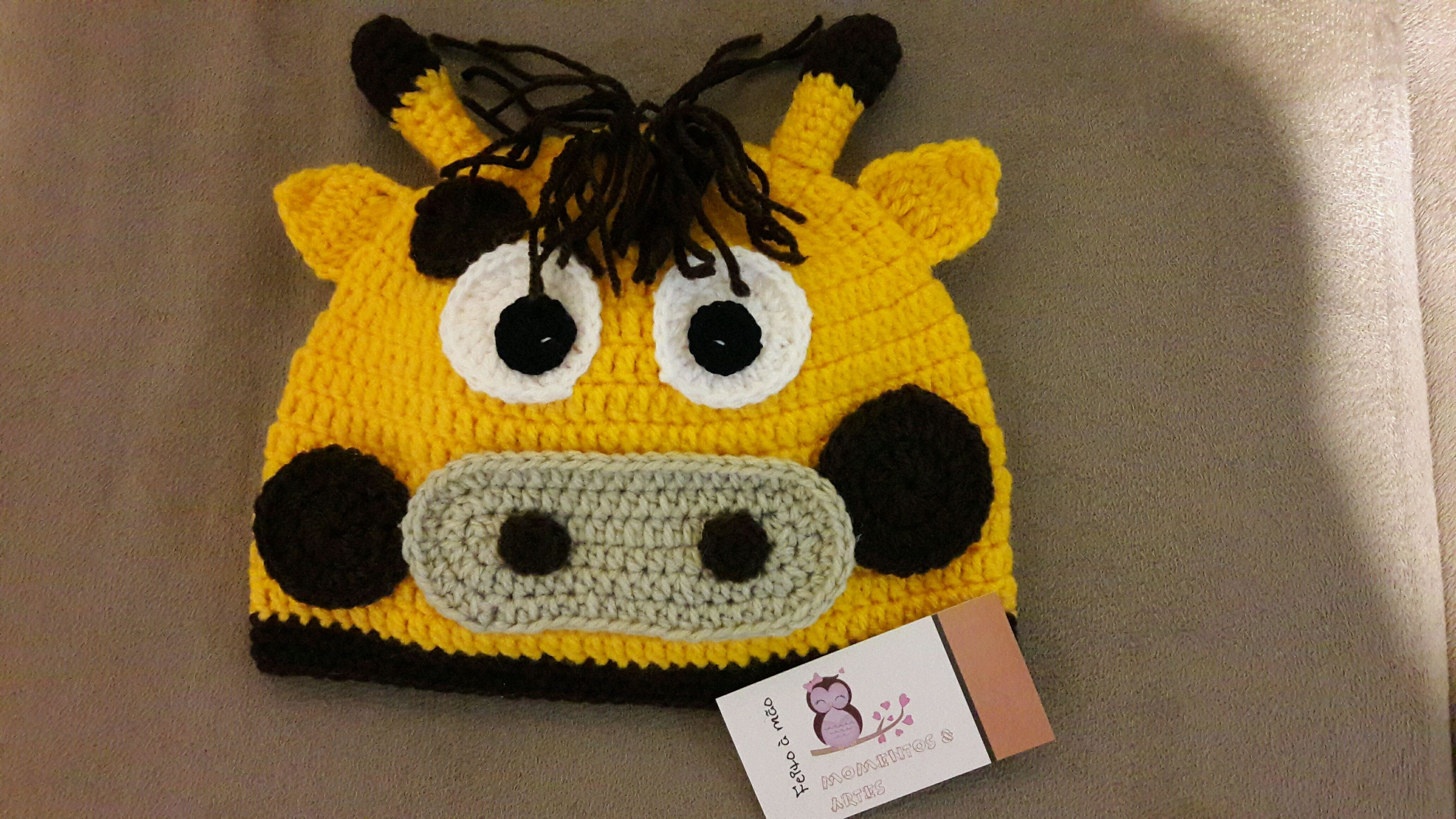 Touca de Croche Divertidas  b9cfe7d7539