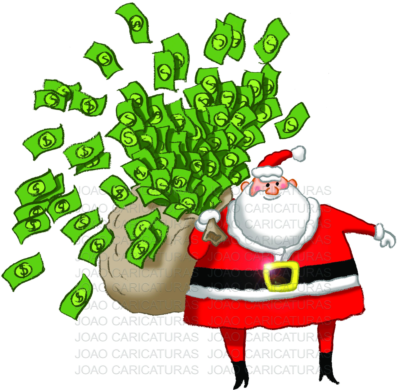 Desenho Papai Noel Natal Saco Cheio Dinheiro No Elo7 Joao