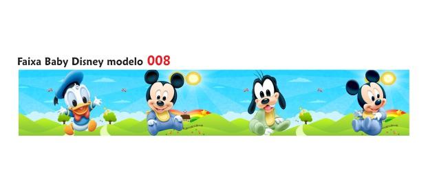 Adesivo Faixa Border Infantil Com Desenhos Baby Disney M008 No