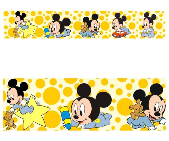 Adesivo Border Infantil Disney Mickey Baby Modelo 033 No Elo7