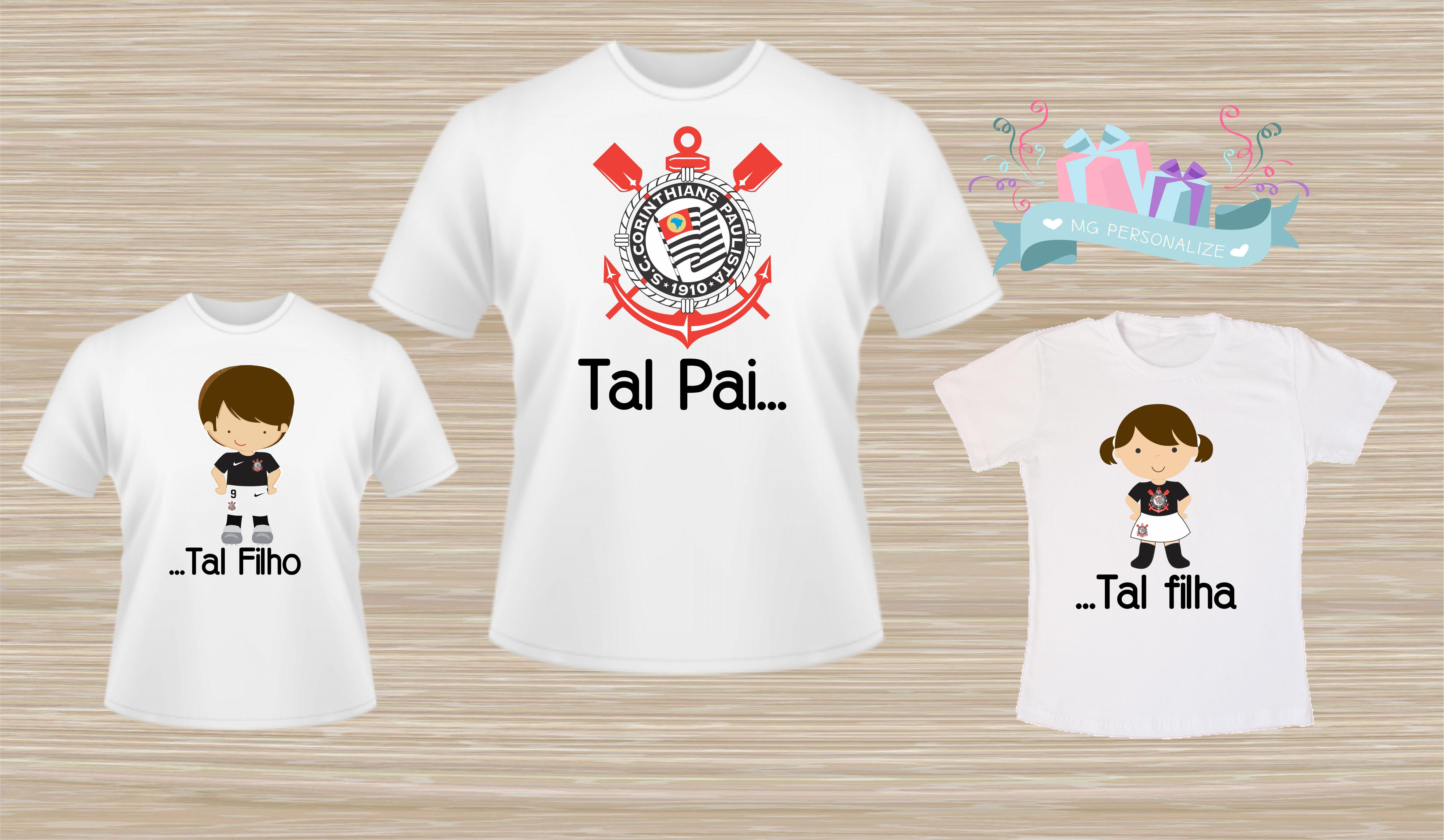 6453541fb3f29b Camiseta Tal Pai Tal Filho Filha   Elo7
