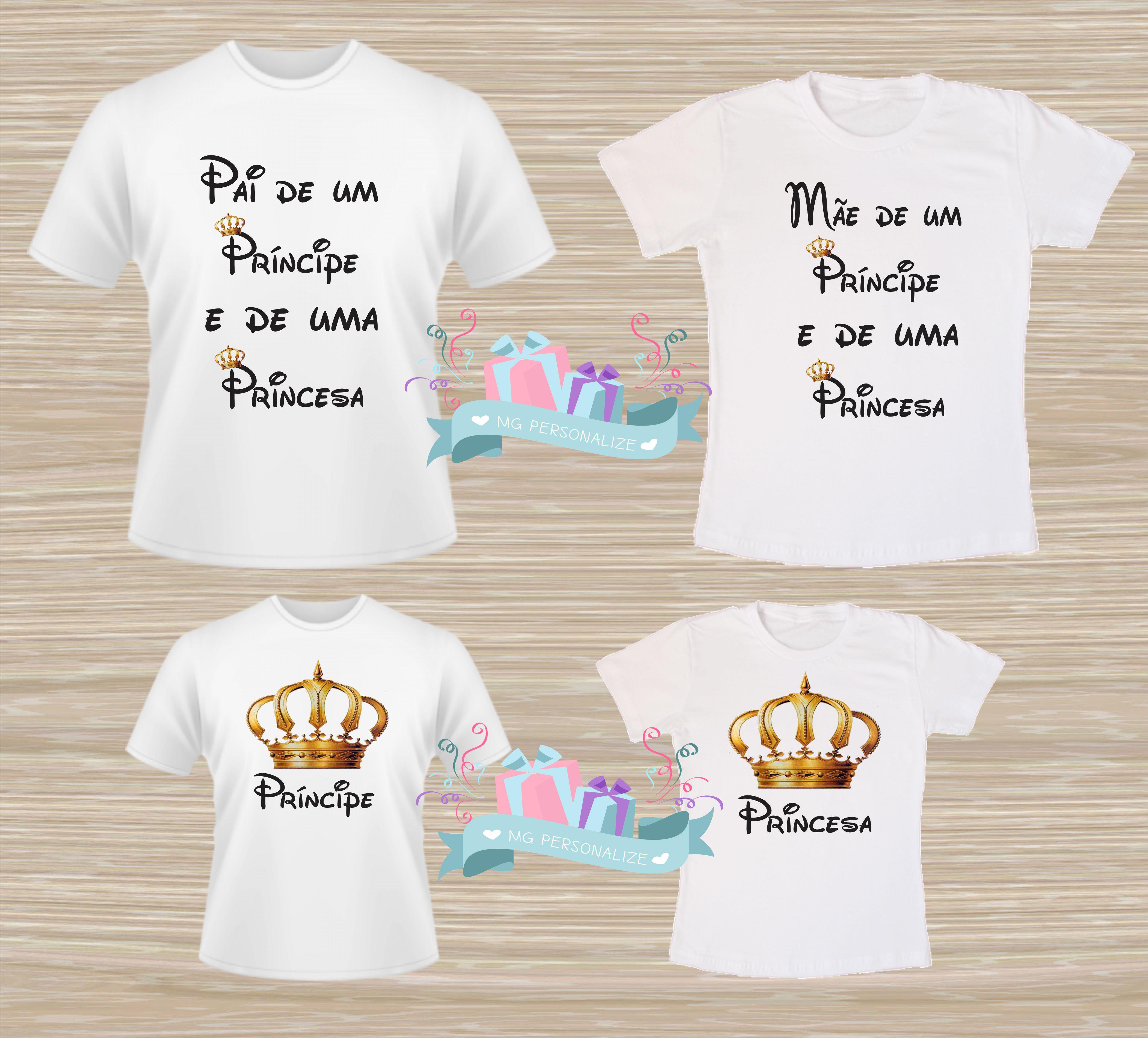 7f6800aa0e32b3 Kit Camisetas Pai Mae e Filha   Elo7