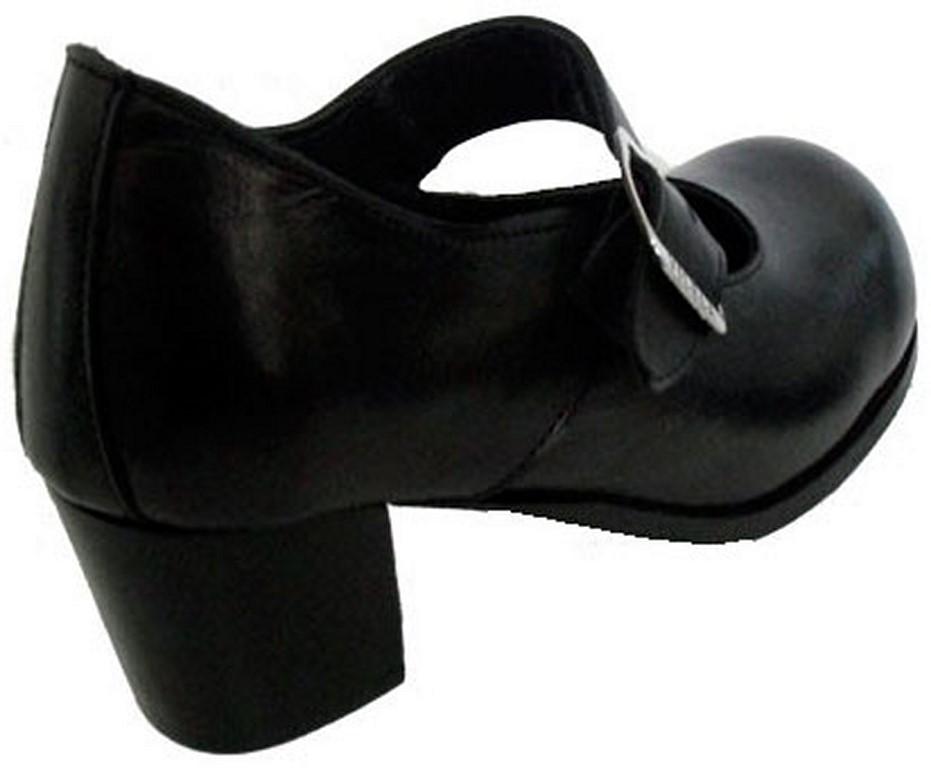 064dd8430 Sapato Boneca Salto Alto Liso Couro Ref166 no Elo7