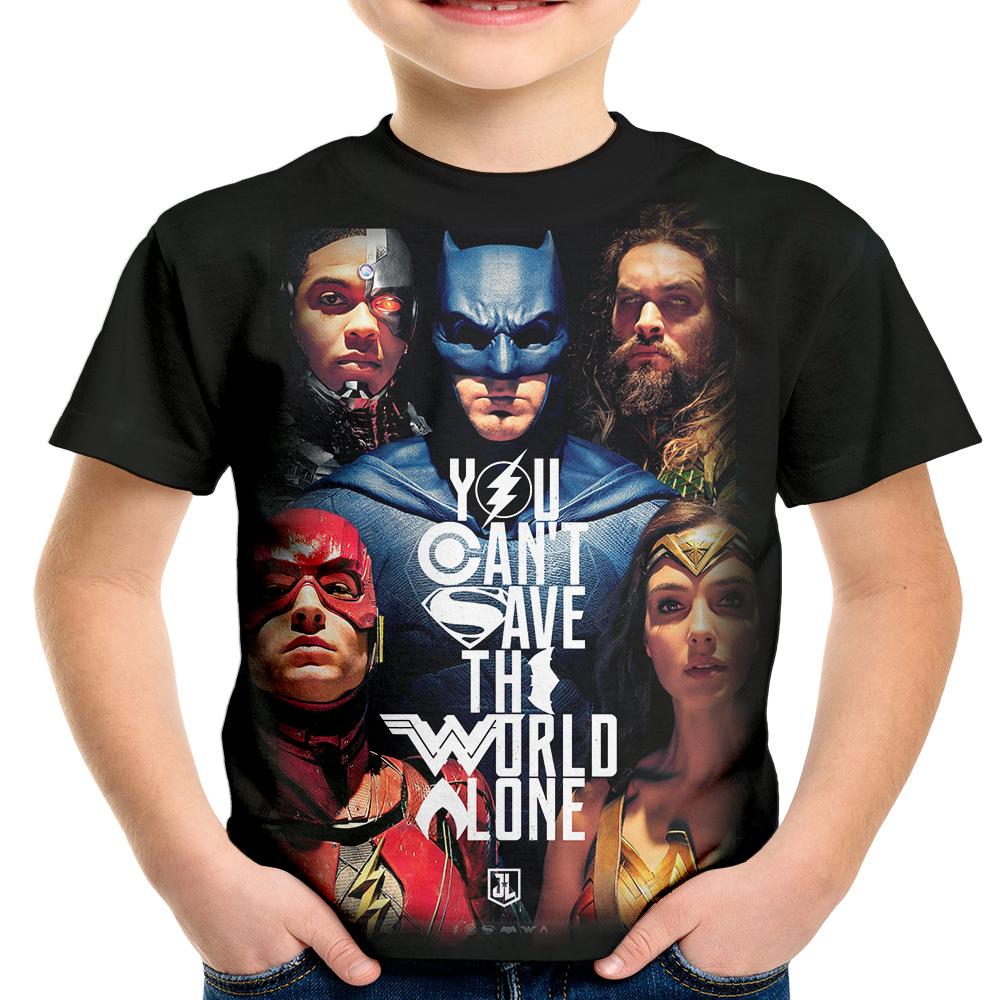 Camiseta Infantil Liga da Justica Batman  4a4094d4f6f