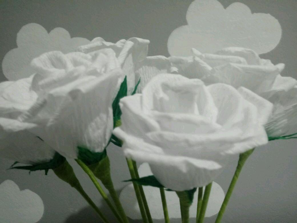 Flor de papel crepom no Elo7  e5ef12e8e7d