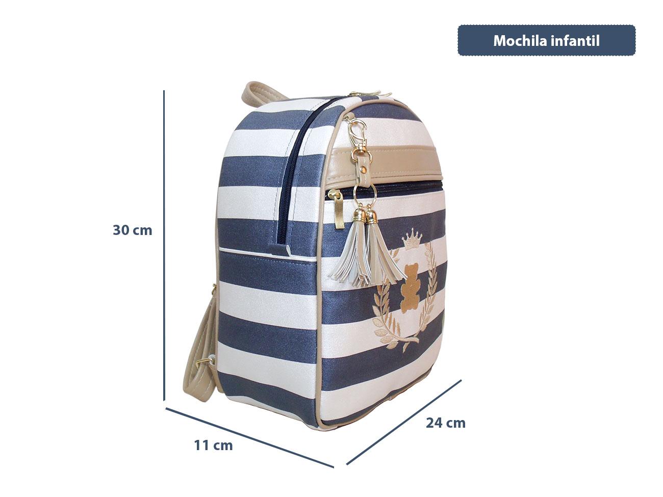 37624b402 Mochila Infantil (MC-BRLA01P) Personalizada no Elo7 | Ateliê Rose (A520EB)