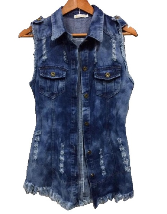 Colete Jeans Feminino  ec4d0091d5b5a