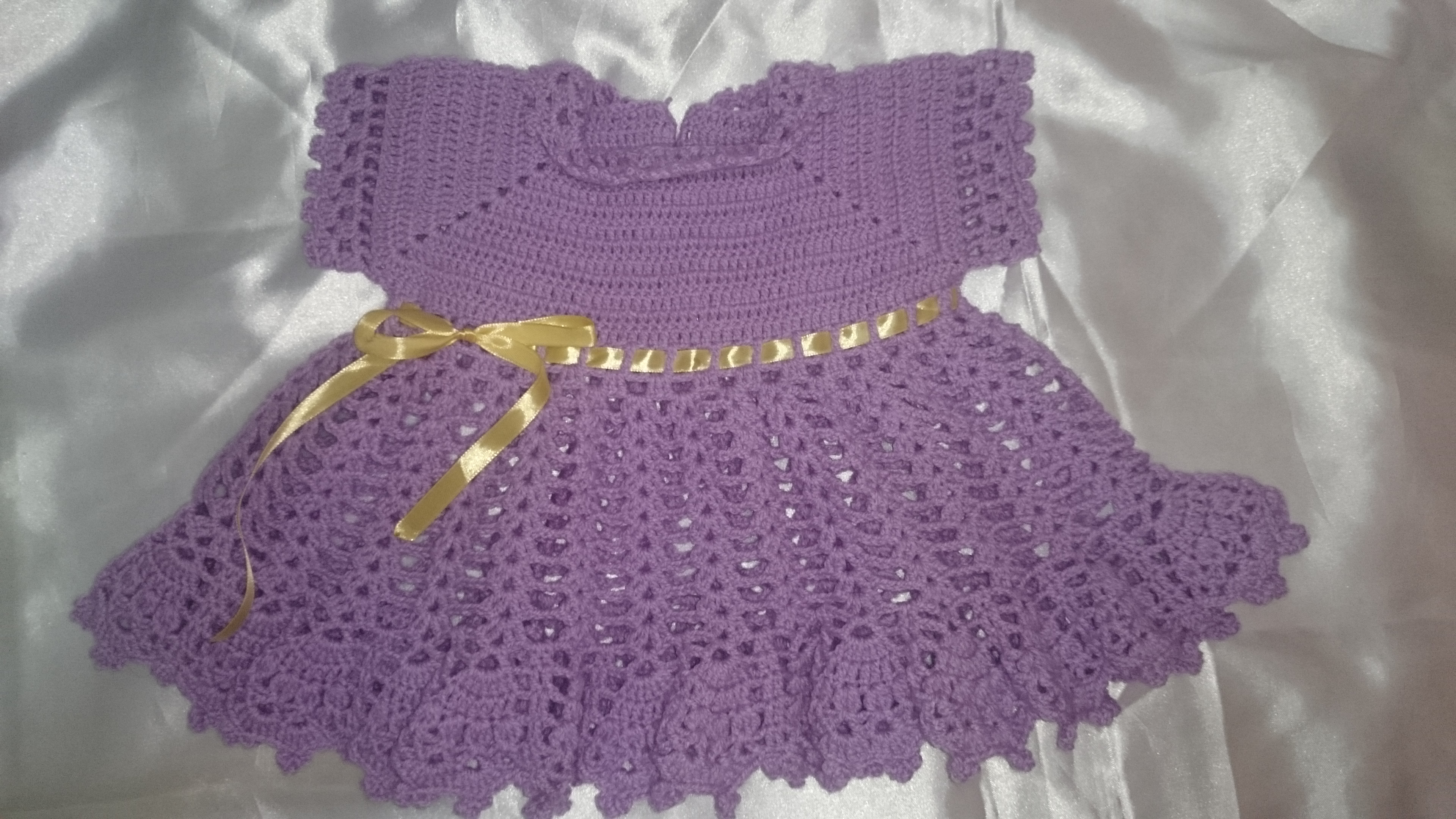 Vestidos Artesanais De Crochê Para Bebê