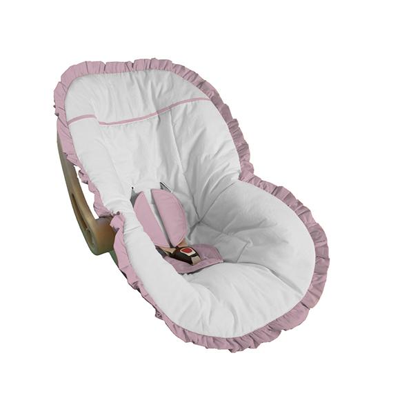33cbeee546 Capa Bebê Conforto Elefantinho Babado Rosa Bebê