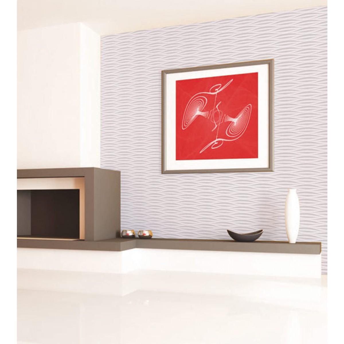 Papel De Parede Textura Branco Gelo Sala Quarto Cozinha Banh No Elo7  -> Sala Parede Gelo