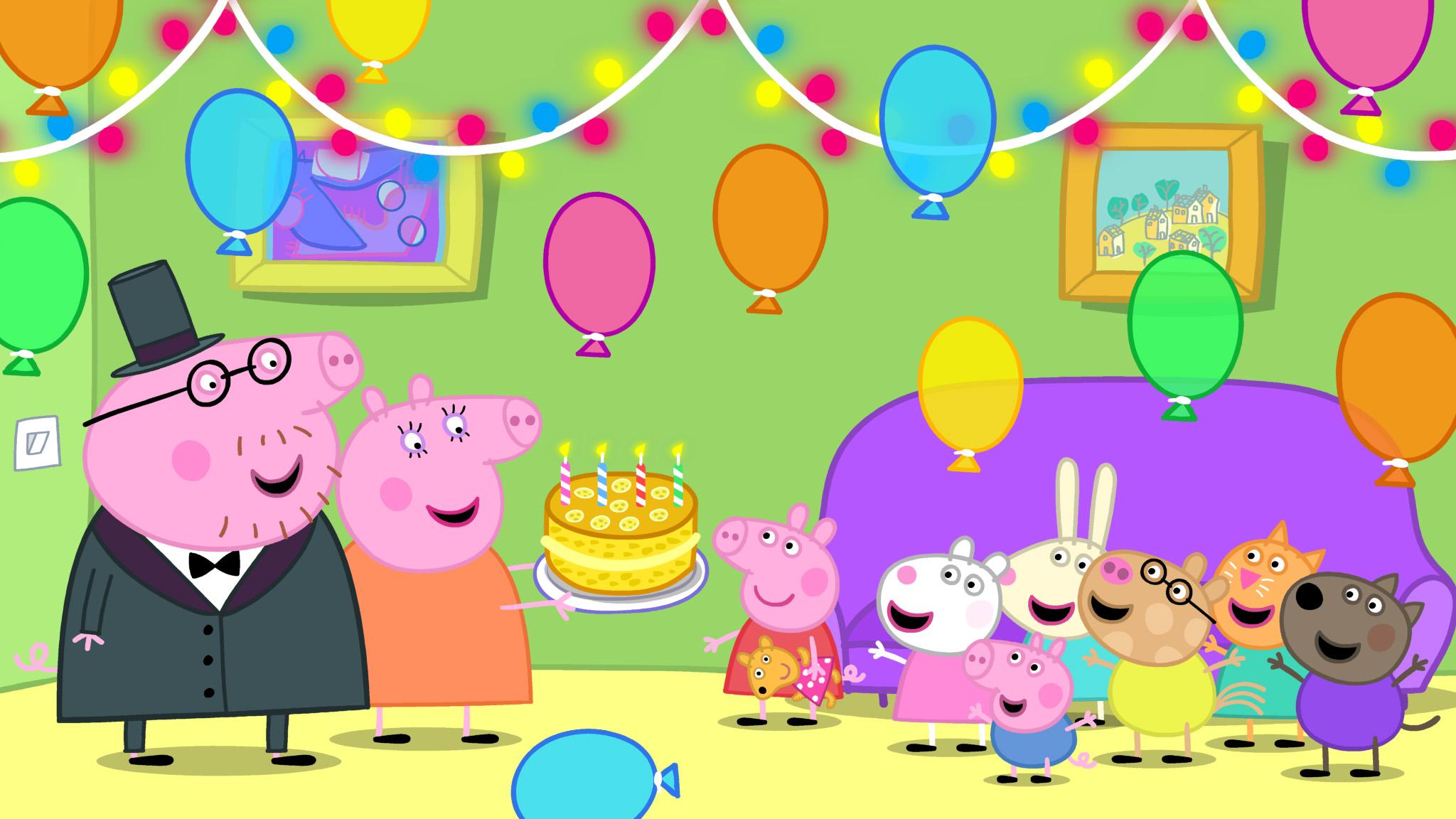 Painel Infantil Lona fosca Peppa Pig 1,50m x 1,00m - festa de aniversario |  Elo7